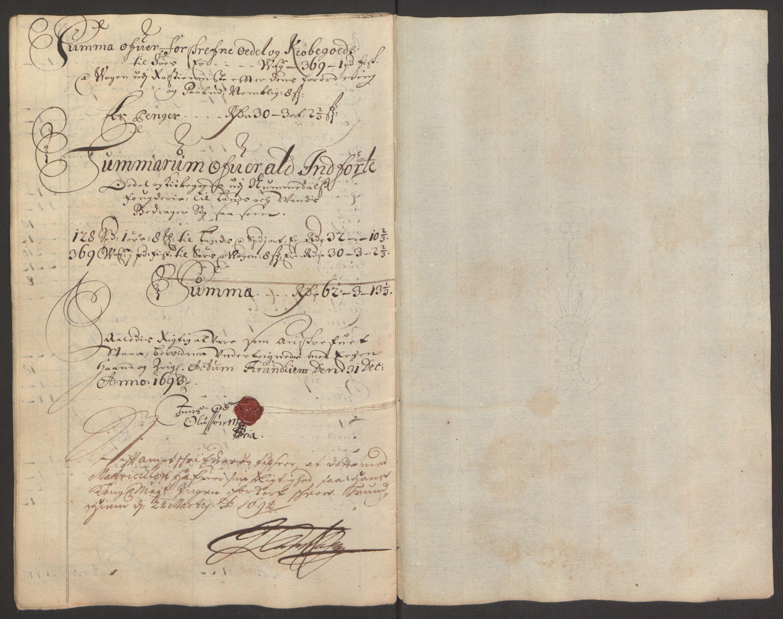 RA, Rentekammeret inntil 1814, Reviderte regnskaper, Fogderegnskap, R64/L4424: Fogderegnskap Namdal, 1692-1695, s. 285