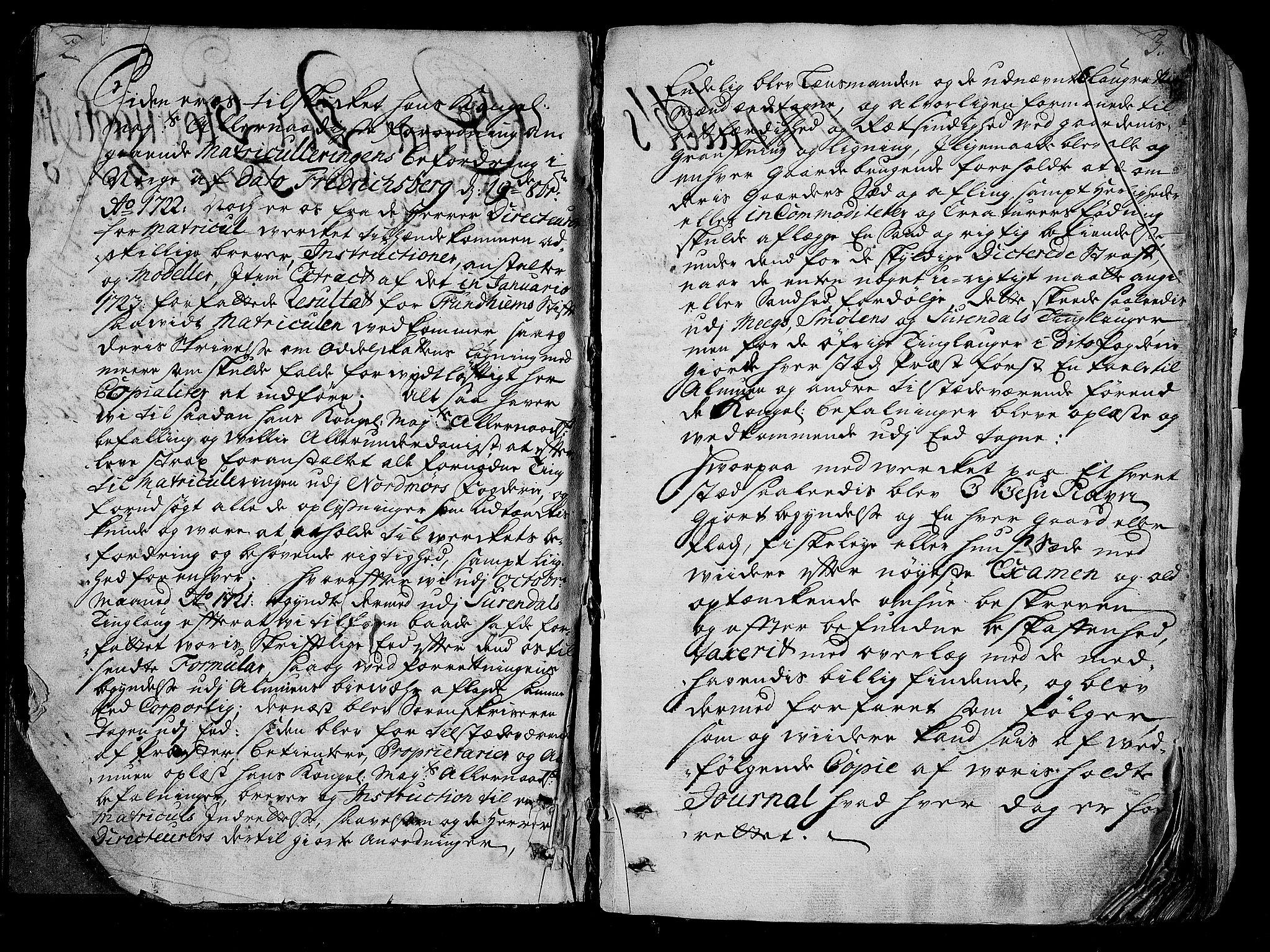 RA, Rentekammeret inntil 1814, Realistisk ordnet avdeling, N/Nb/Nbf/L0154: Nordmøre eksaminasjonsprotokoll, 1721-1723, s. 2-3