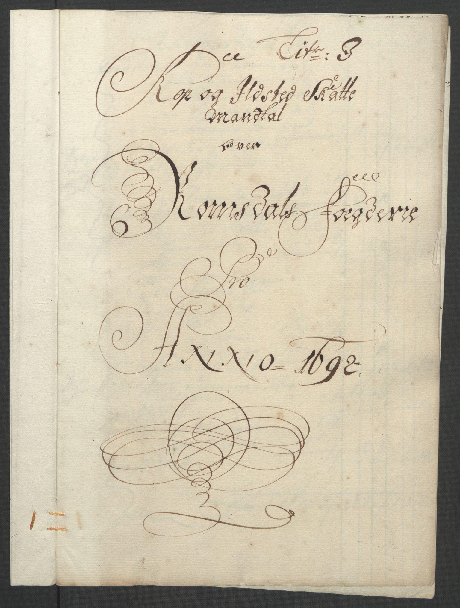 RA, Rentekammeret inntil 1814, Reviderte regnskaper, Fogderegnskap, R55/L3650: Fogderegnskap Romsdal, 1692, s. 108