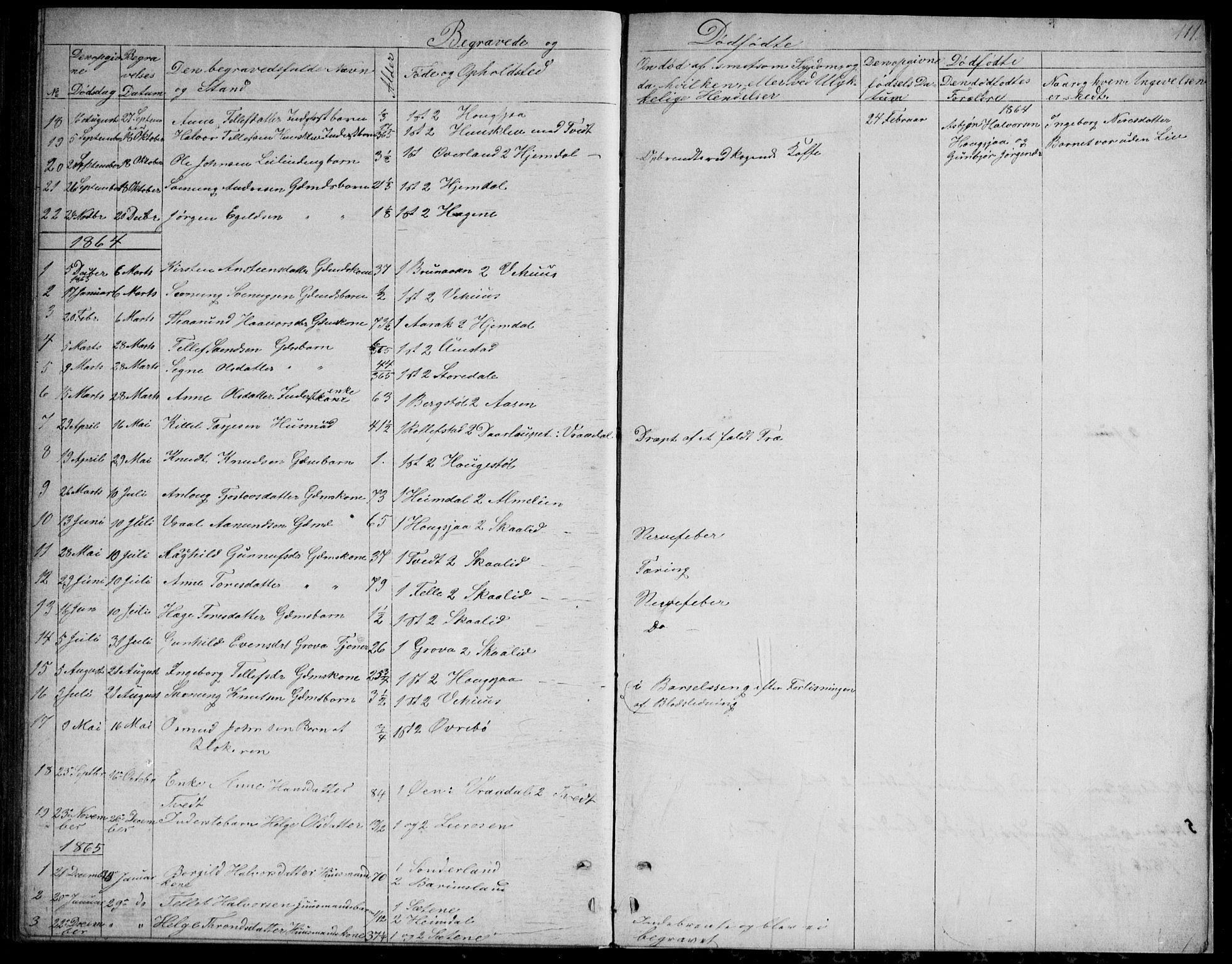 SAKO, Nissedal kirkebøker, G/Gb/L0002: Klokkerbok nr. II 2, 1863-1892, s. 111