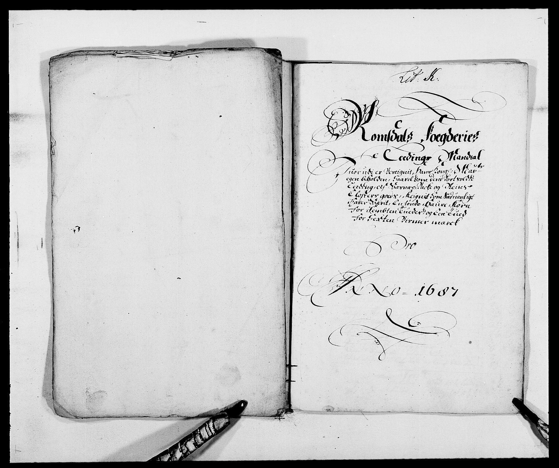 RA, Rentekammeret inntil 1814, Reviderte regnskaper, Fogderegnskap, R55/L3648: Fogderegnskap Romsdal, 1687-1689, s. 115
