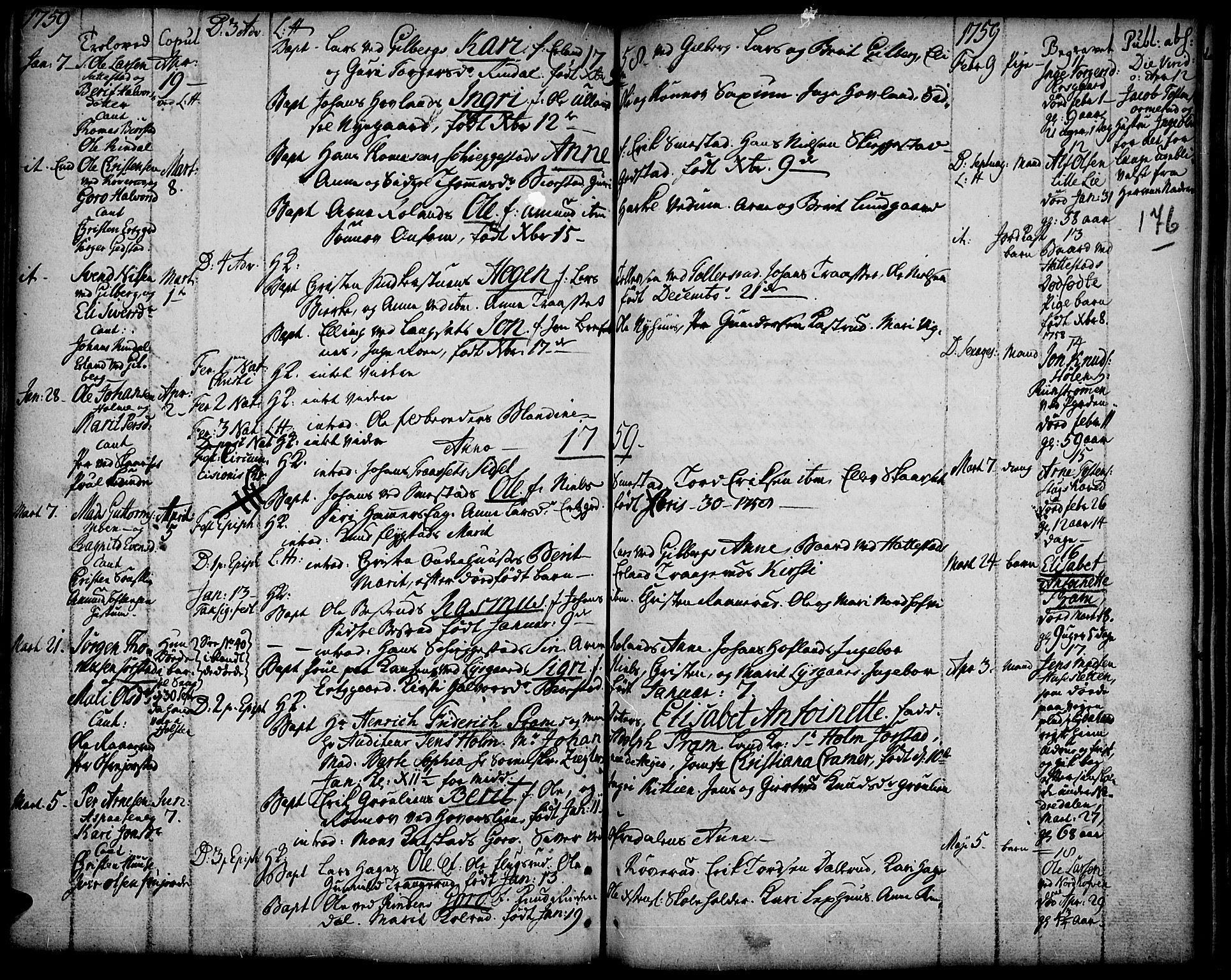 SAH, Fåberg prestekontor, Ministerialbok nr. 1, 1727-1775, s. 176