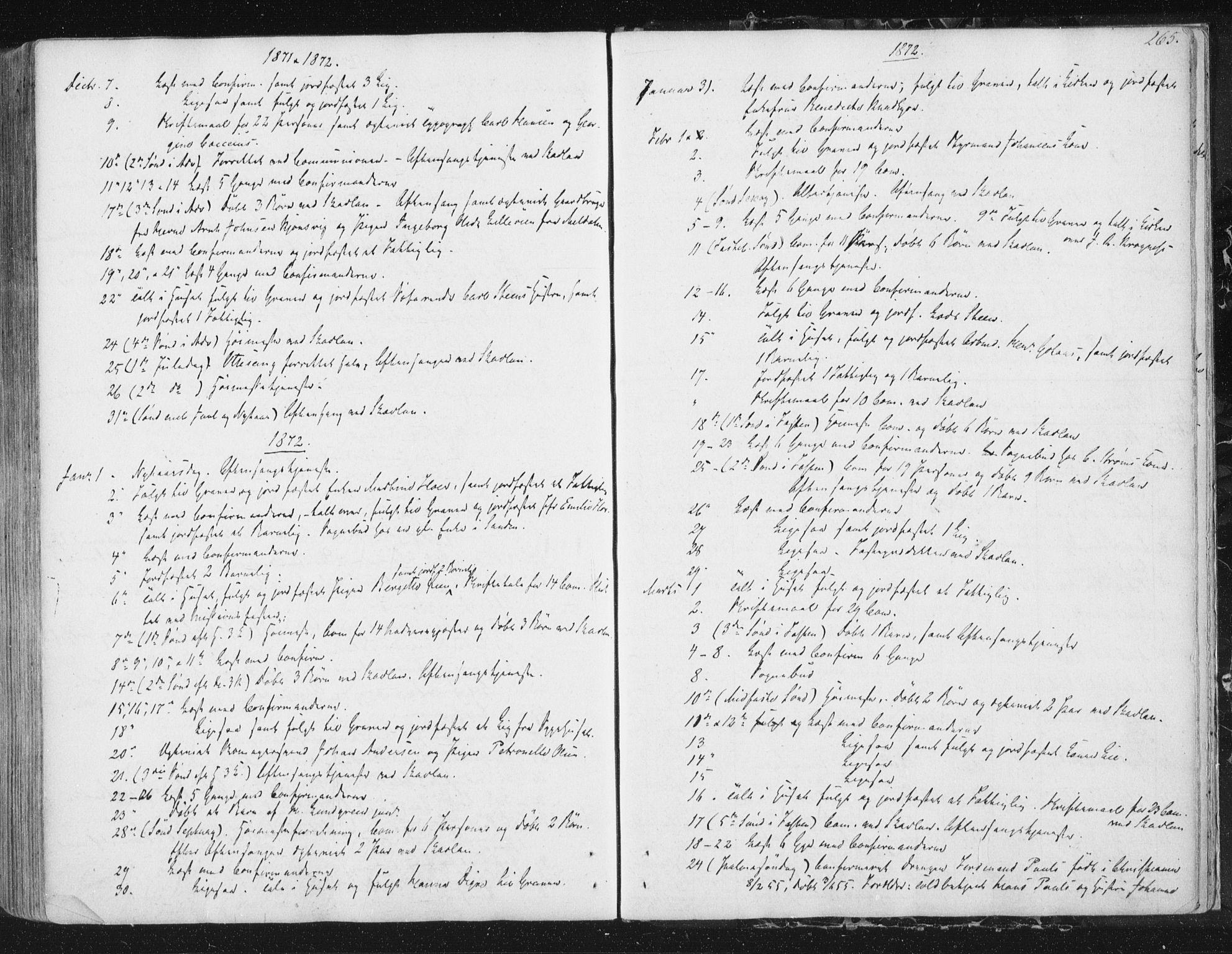 SAT, Ministerialprotokoller, klokkerbøker og fødselsregistre - Sør-Trøndelag, 602/L0127: Residerende kapellans bok nr. 602B01, 1821-1875, s. 265