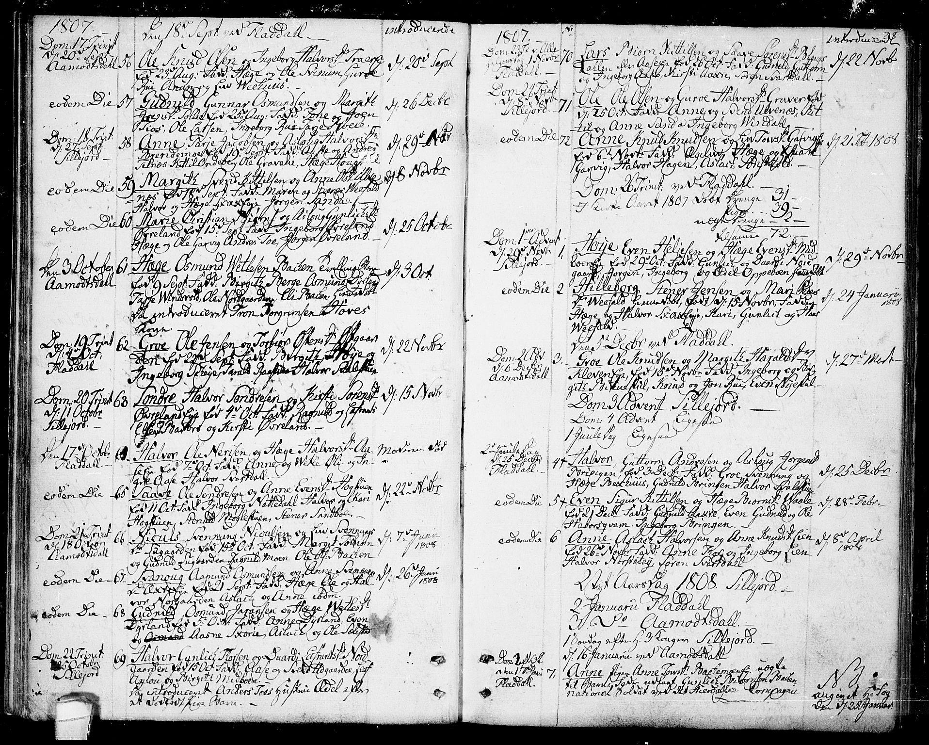 SAKO, Seljord kirkebøker, F/Fa/L0009: Ministerialbok nr. I 9, 1801-1814, s. 28