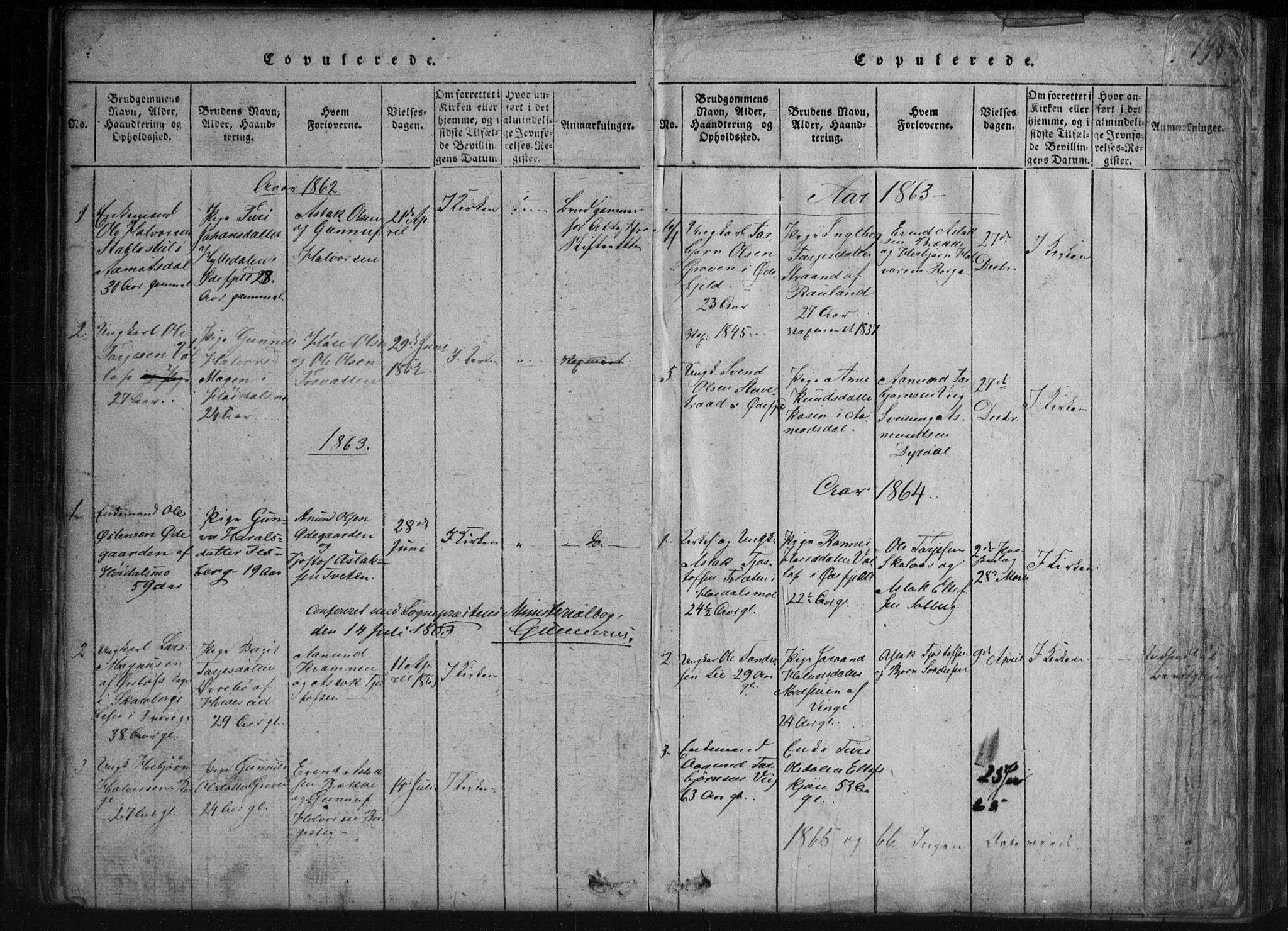 SAKO, Rauland kirkebøker, G/Gb/L0001: Klokkerbok nr. II 1, 1815-1886, s. 198