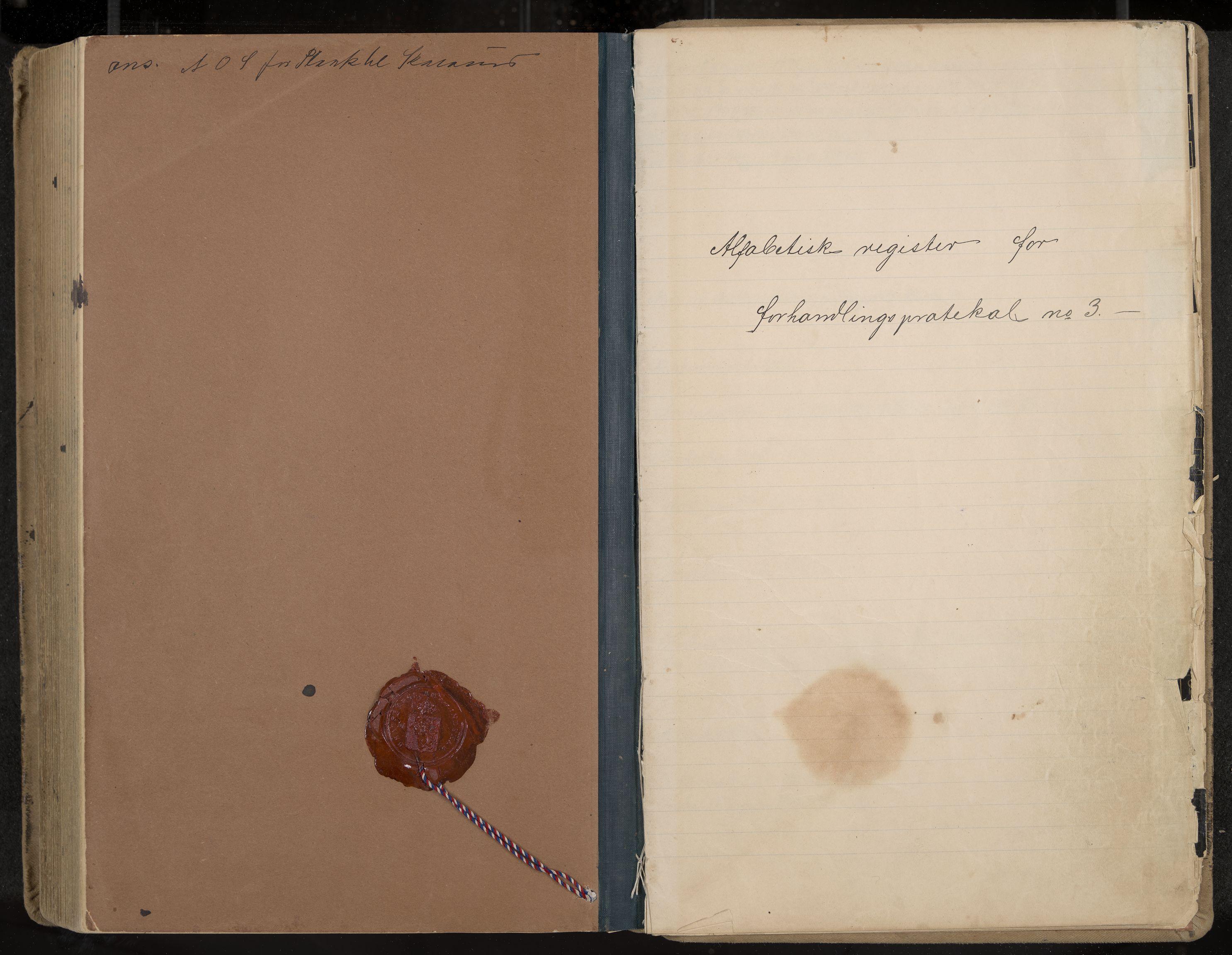 IKAK, Seljord formannskap og sentraladministrasjon, A/Aa/L0003: Møtebok med register, 1891-1905