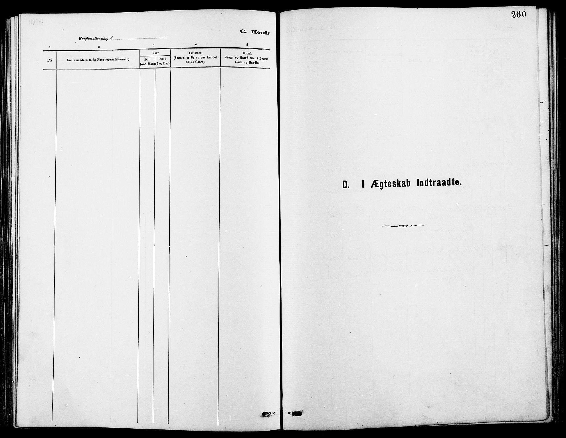 SAH, Dovre prestekontor, Klokkerbok nr. 2, 1881-1907, s. 260