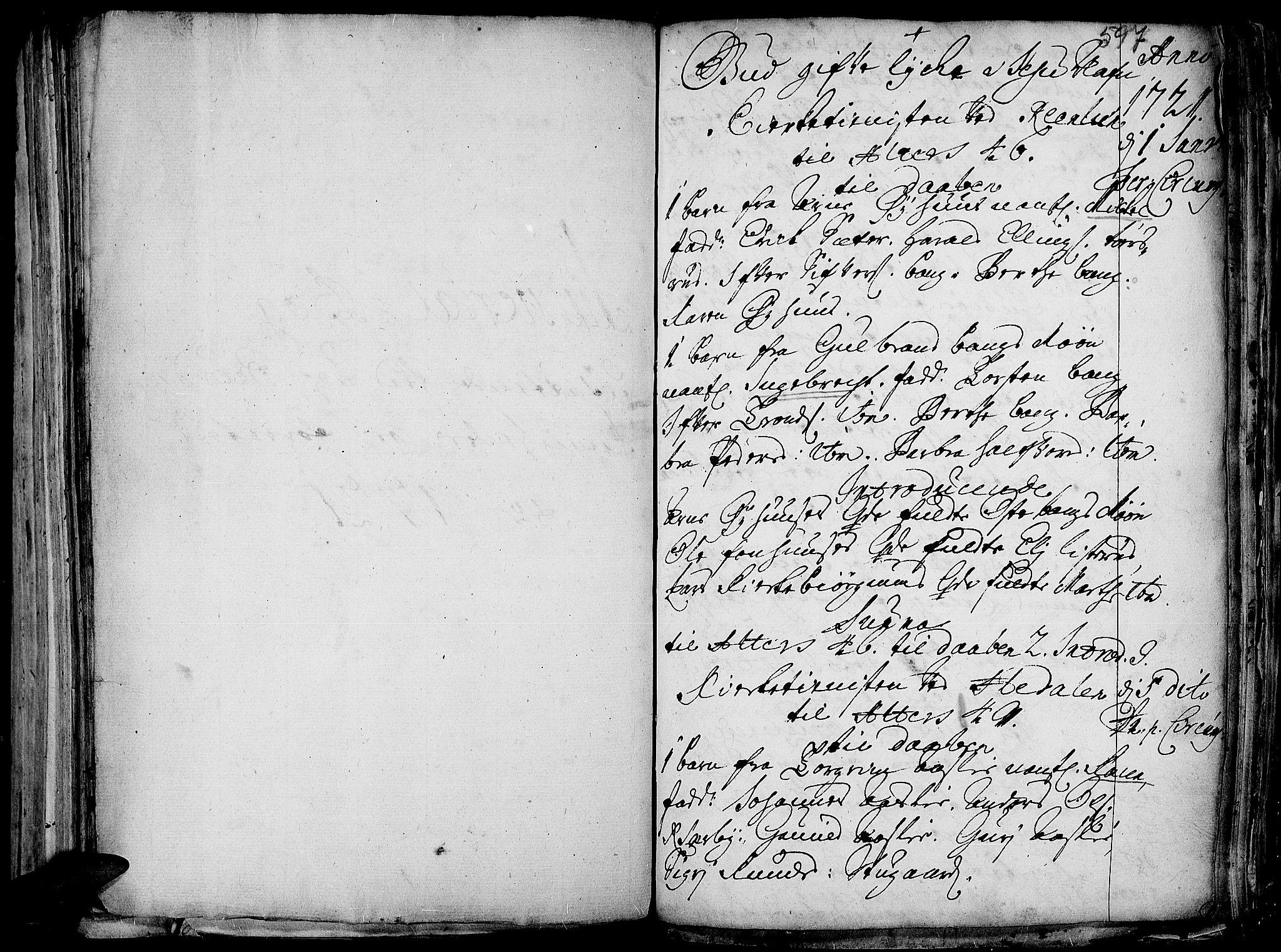 SAH, Aurdal prestekontor, Ministerialbok nr. 1-3, 1692-1730, s. 597