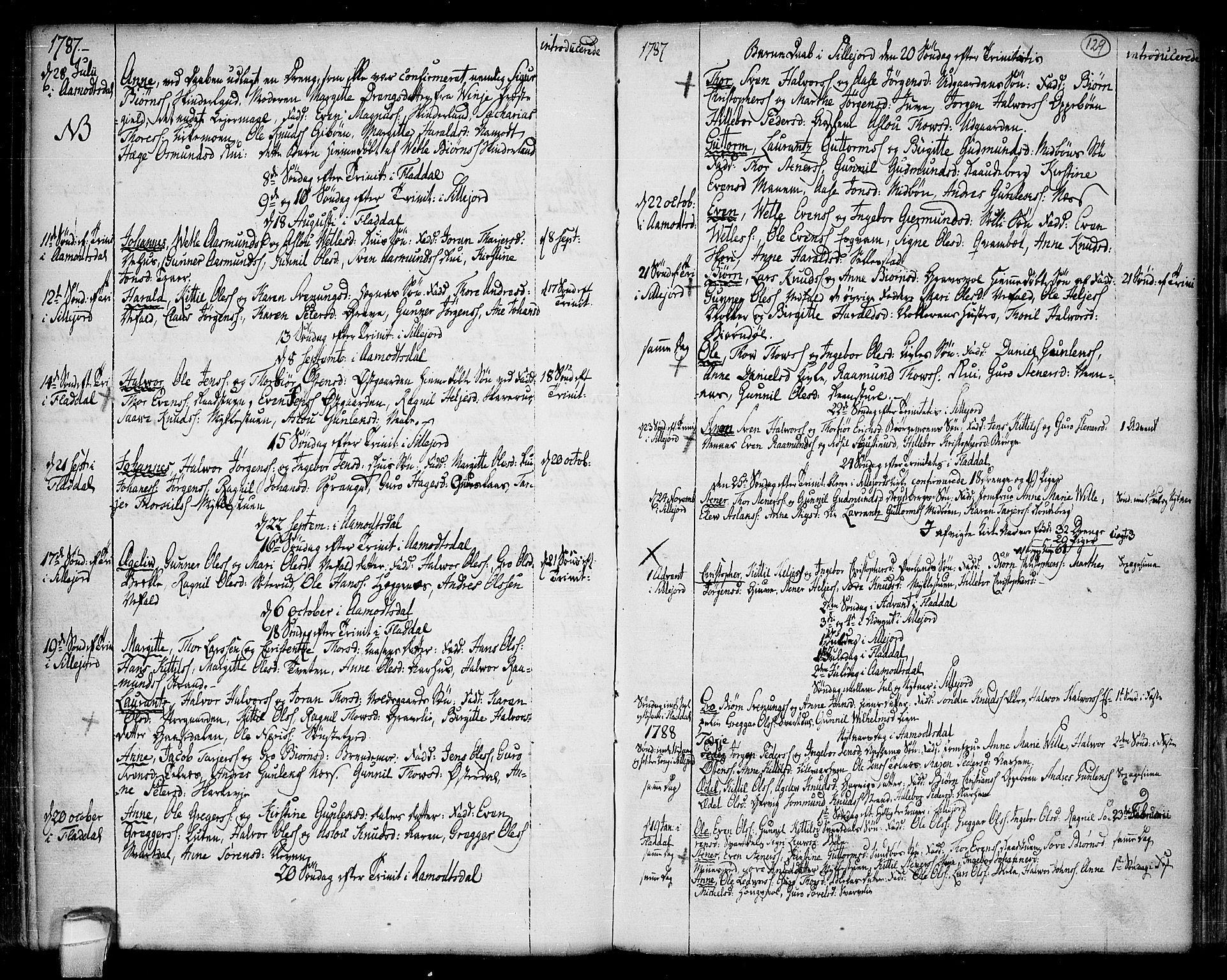 SAKO, Seljord kirkebøker, F/Fa/L0007: Ministerialbok nr. I 7, 1755-1800, s. 129