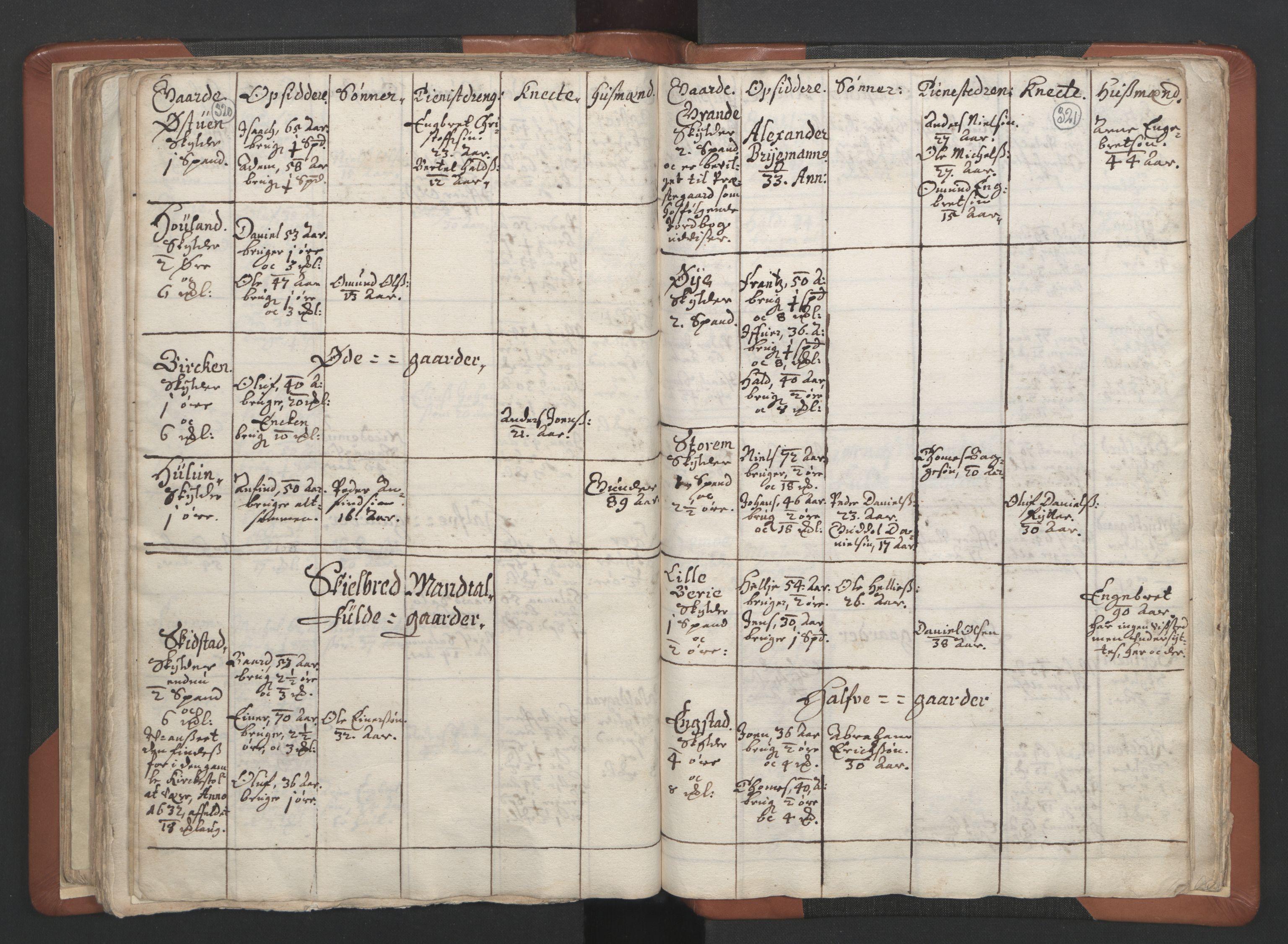 RA, Sogneprestenes manntall 1664-1666, nr. 34: Namdal prosti, 1664-1666, s. 320-321
