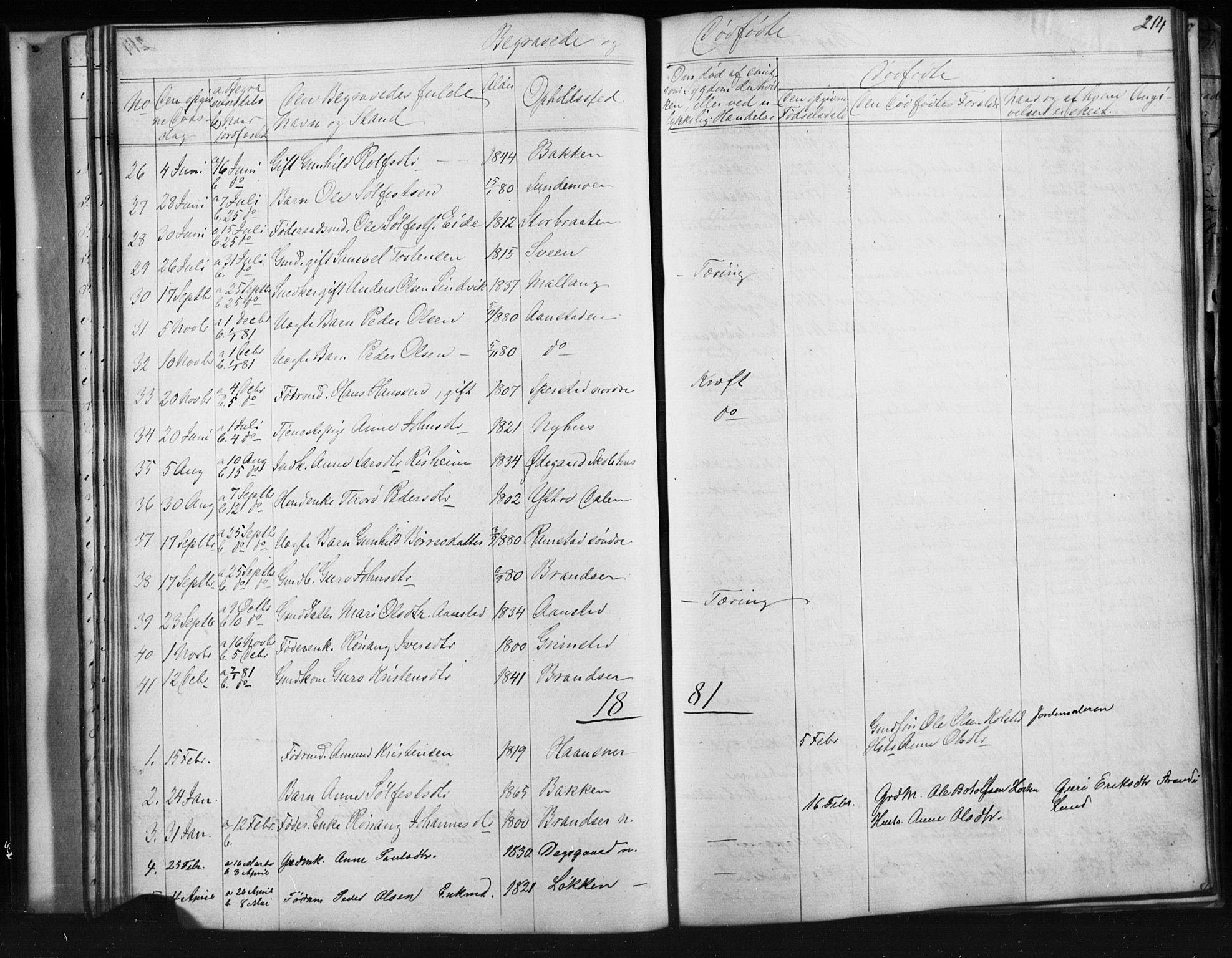 SAH, Skjåk prestekontor, Klokkerbok nr. 1, 1865-1893, s. 214