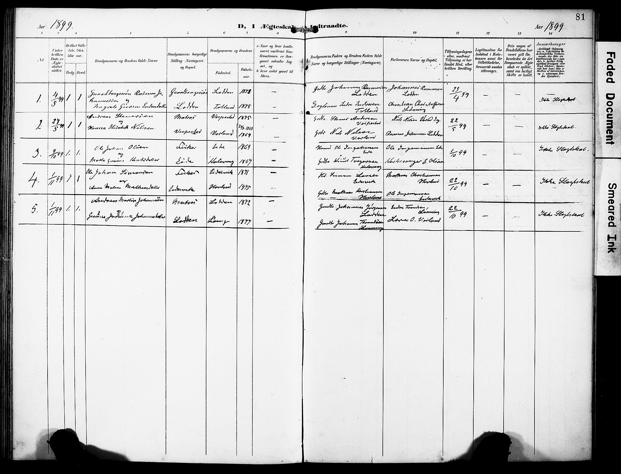 SAB, Finnås sokneprestembete, H/Ha/Haa/Haad/L0002: Ministerialbok nr. D 2, 1895-1906, s. 81