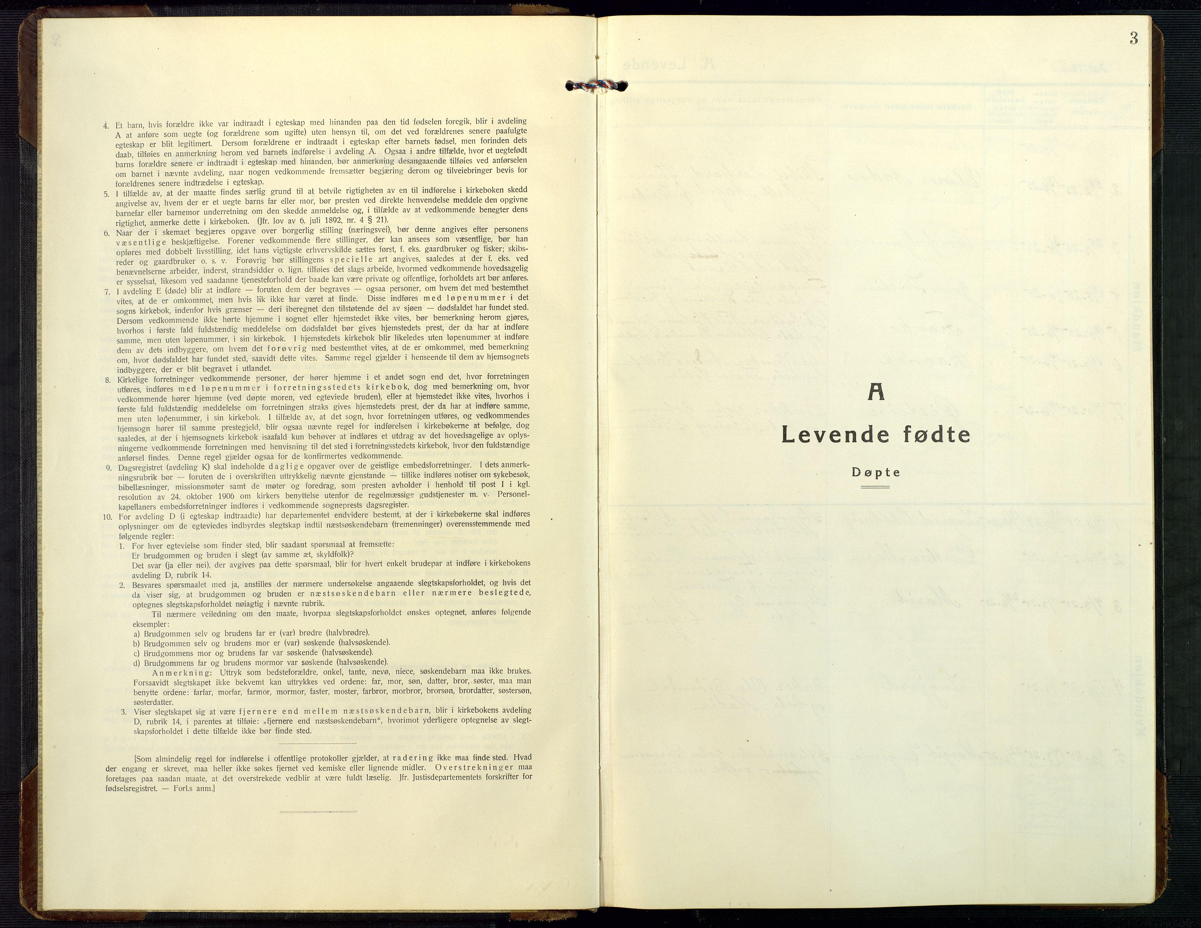 SAK, Dypvåg sokneprestkontor, F/Fb/Fbb/L0006: Klokkerbok nr. B 6, 1925-1954, s. 3
