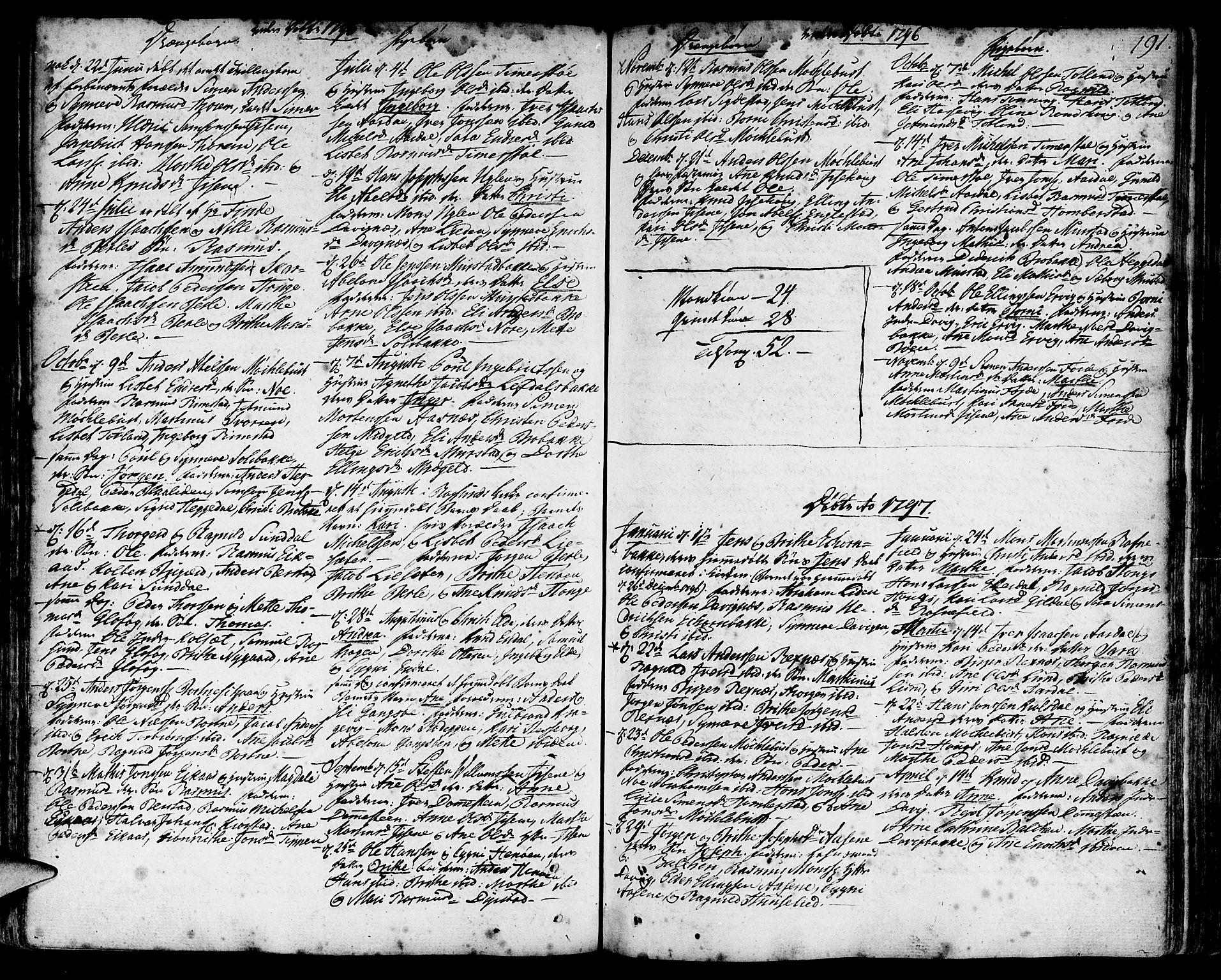 SAB, Davik Sokneprestembete, Ministerialbok nr. A 2, 1742-1816, s. 191
