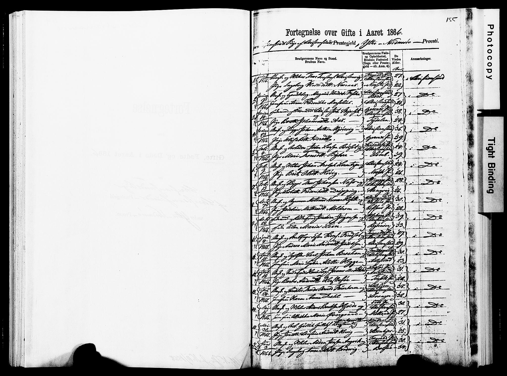 SAT, Ministerialprotokoller, klokkerbøker og fødselsregistre - Møre og Romsdal, 572/L0857: Ministerialbok nr. 572D01, 1866-1872, s. 155