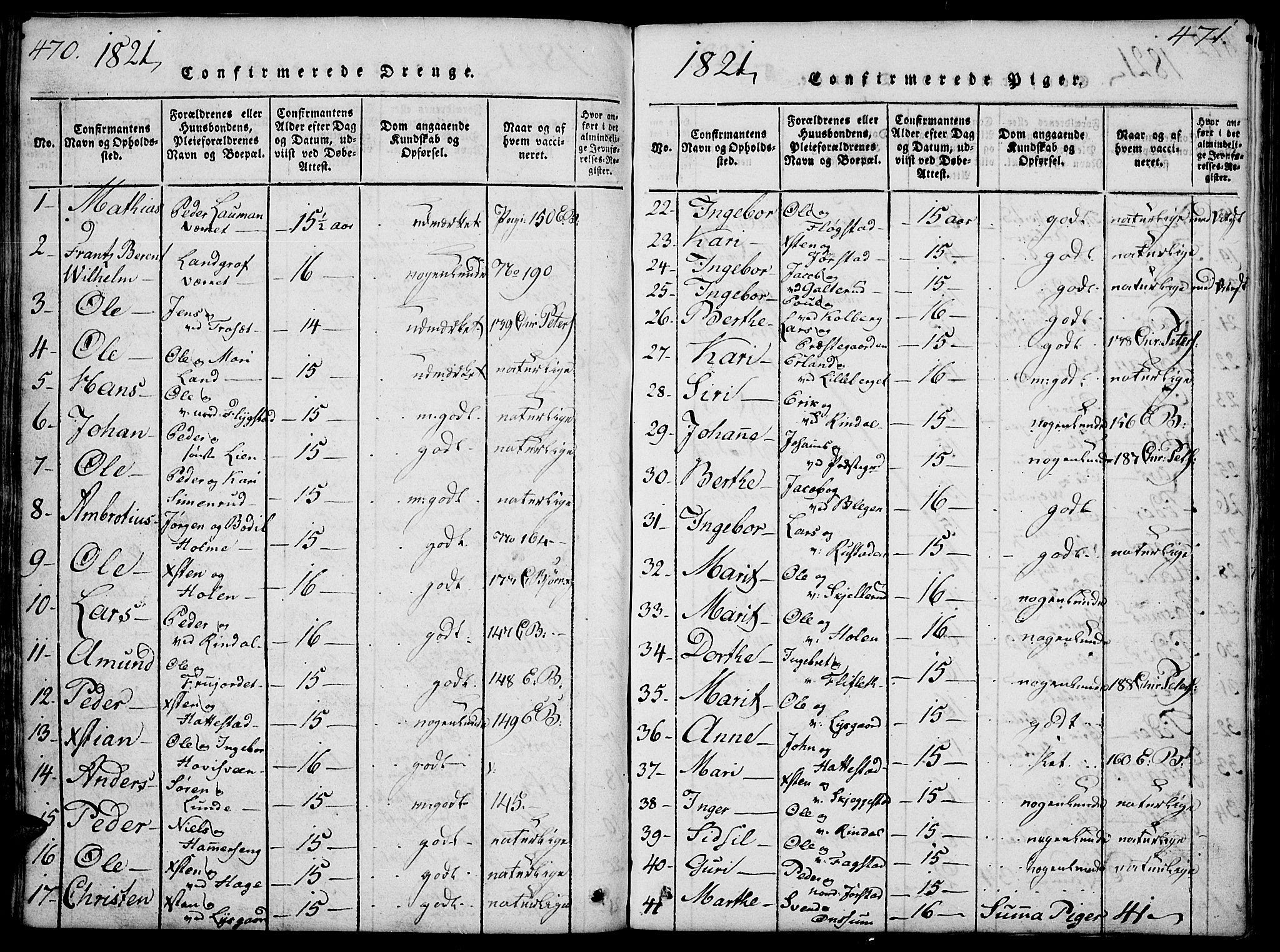 SAH, Fåberg prestekontor, Klokkerbok nr. 4, 1818-1837, s. 470-471