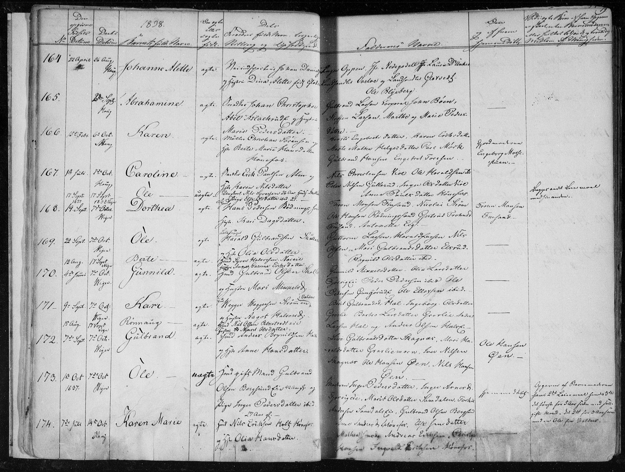 SAKO, Norderhov kirkebøker, F/Fa/L0010: Ministerialbok nr. 10, 1837-1847, s. 19