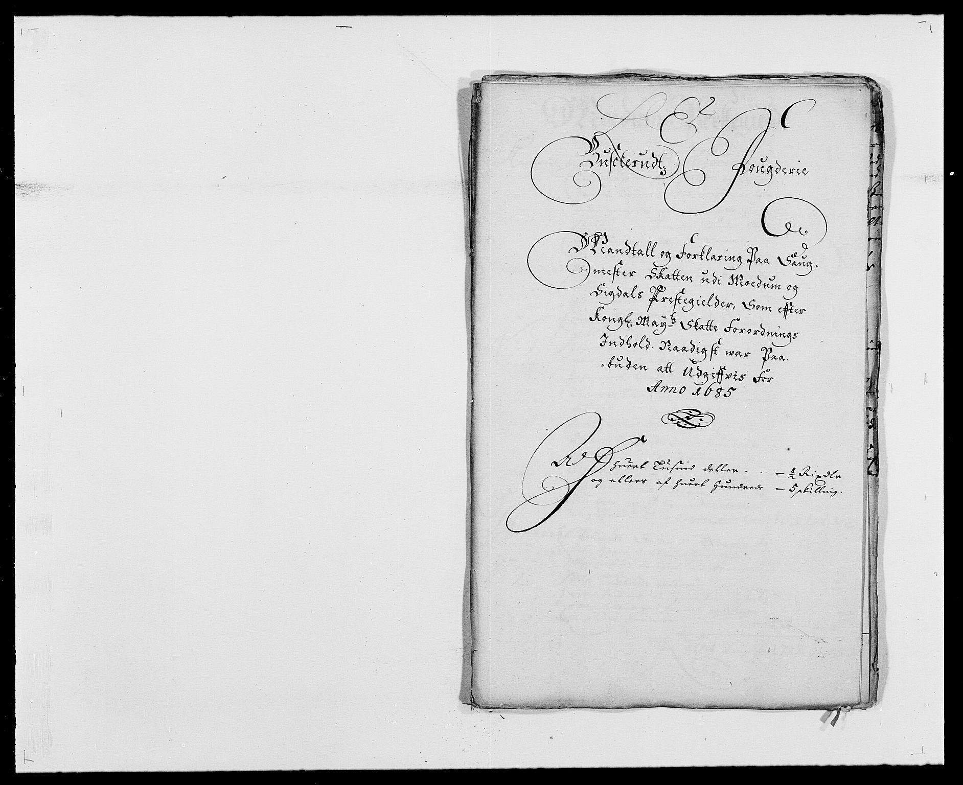 RA, Rentekammeret inntil 1814, Reviderte regnskaper, Fogderegnskap, R25/L1678: Fogderegnskap Buskerud, 1685-1686, s. 99