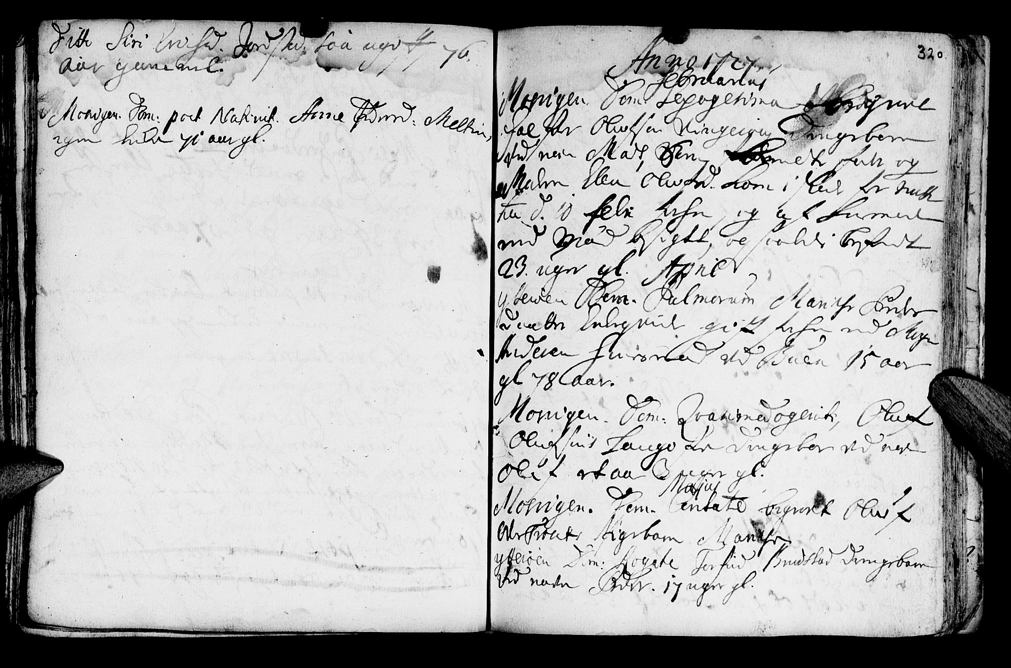 SAT, Ministerialprotokoller, klokkerbøker og fødselsregistre - Nord-Trøndelag, 722/L0215: Ministerialbok nr. 722A02, 1718-1755, s. 320