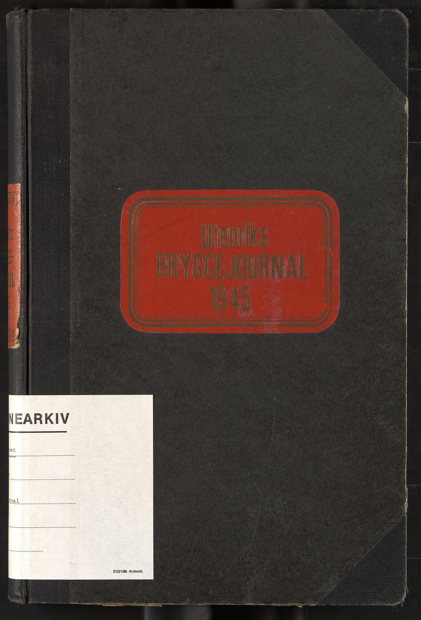 OBA, Oslo havnevesen, Fa/Fac/L0059: Utenriks bryggejournal, 1945