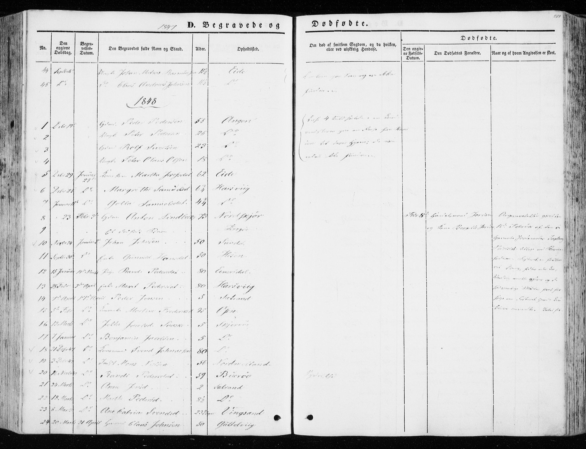 SAT, Ministerialprotokoller, klokkerbøker og fødselsregistre - Sør-Trøndelag, 657/L0704: Ministerialbok nr. 657A05, 1846-1857, s. 228