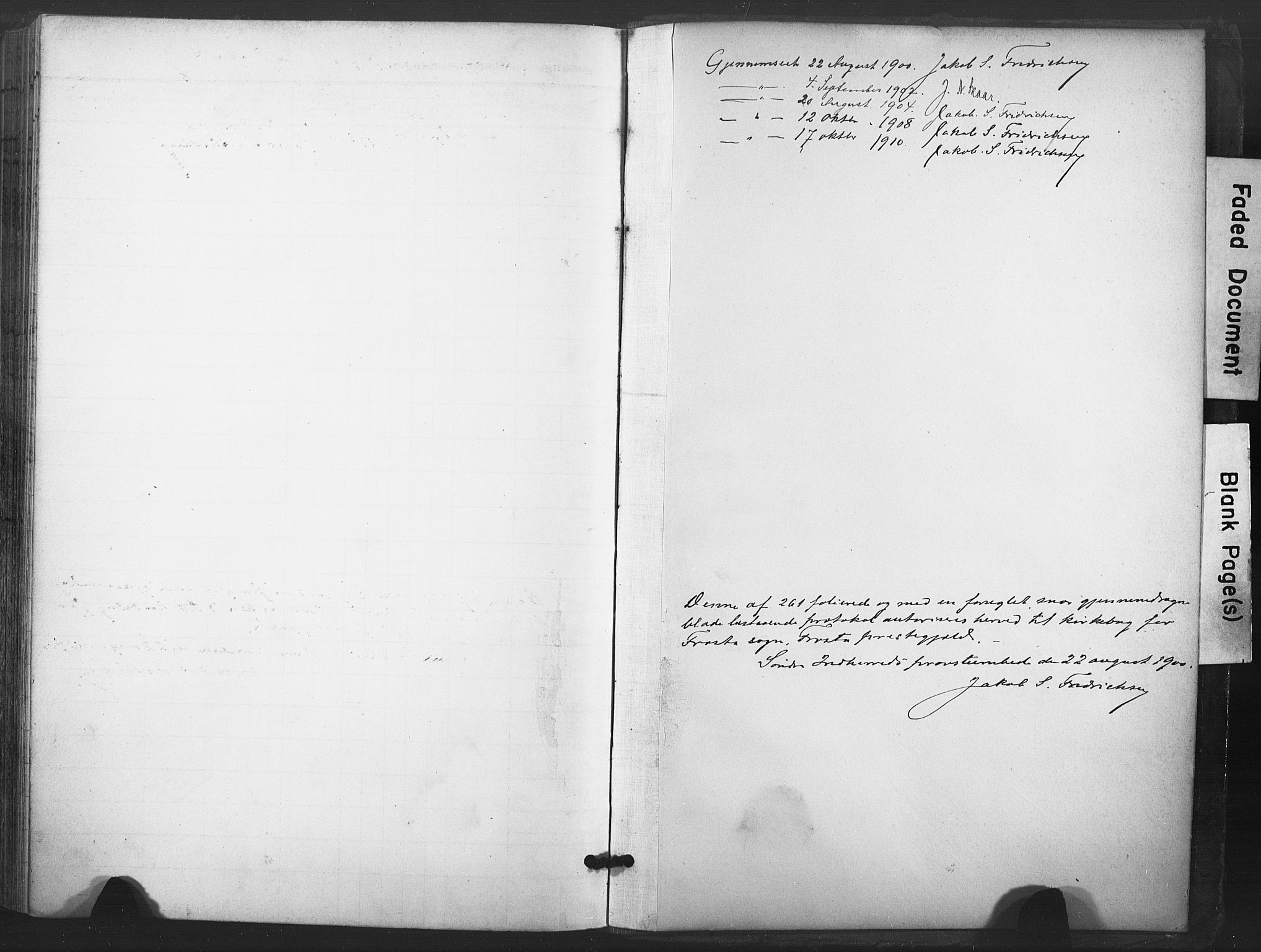 SAT, Ministerialprotokoller, klokkerbøker og fødselsregistre - Nord-Trøndelag, 713/L0122: Ministerialbok nr. 713A11, 1899-1910