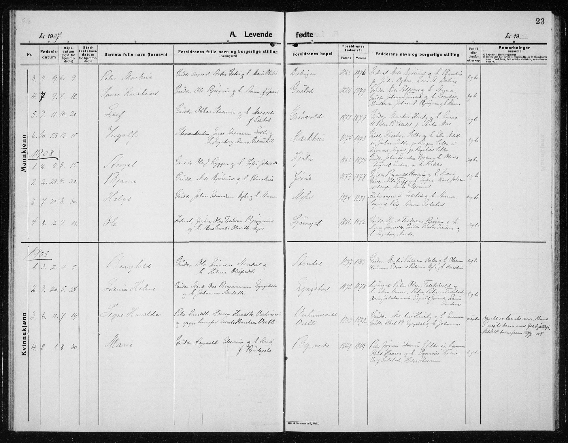 SAT, Ministerialprotokoller, klokkerbøker og fødselsregistre - Nord-Trøndelag, 719/L0180: Klokkerbok nr. 719C01, 1878-1940, s. 23