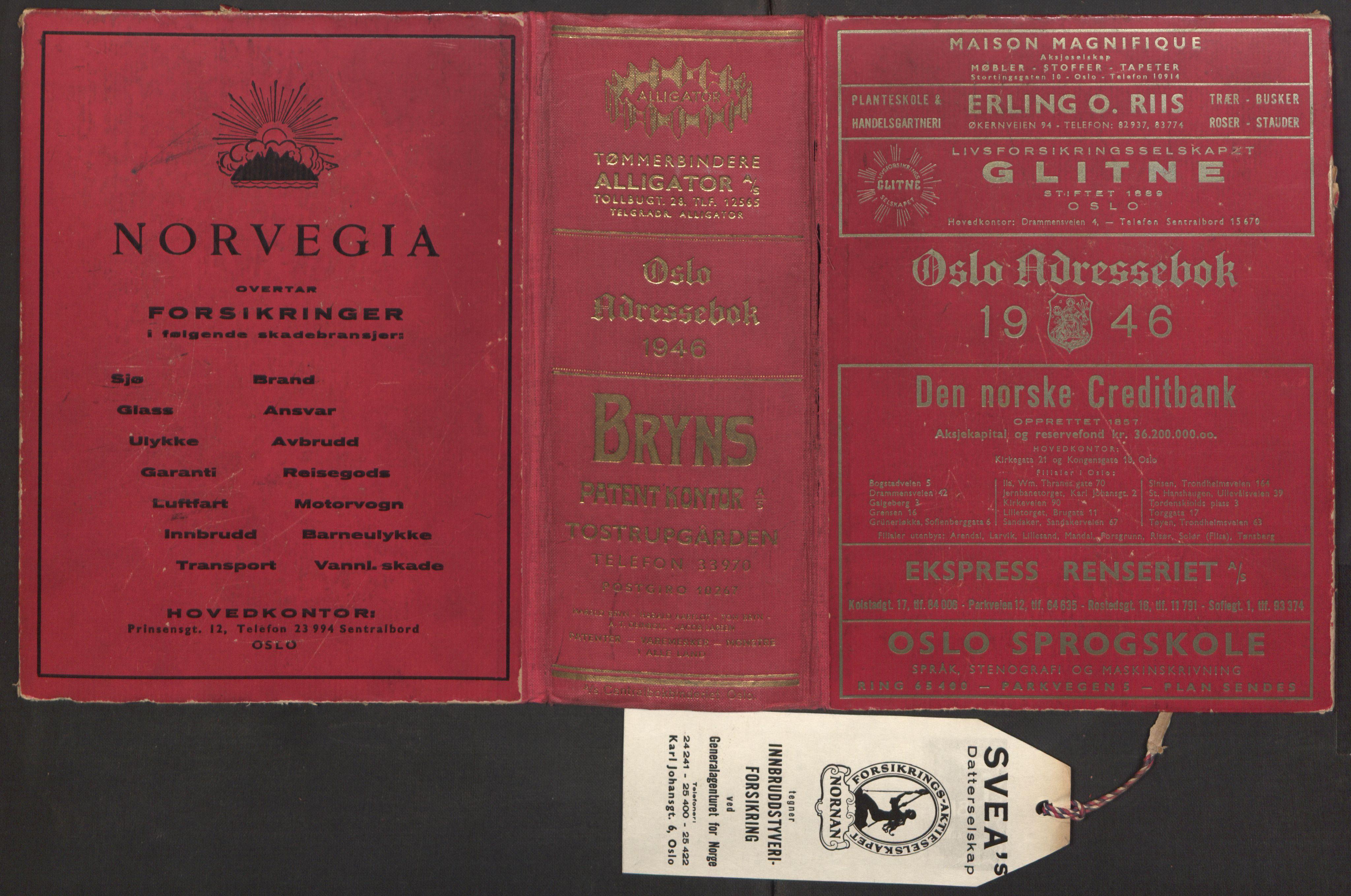 PUBL, Kristiania/Oslo adressebok, 1946