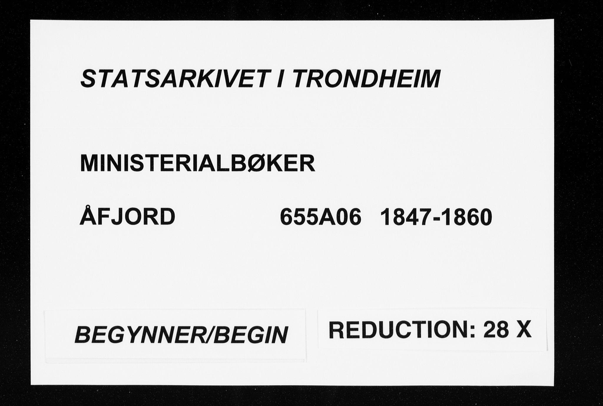 SAT, Ministerialprotokoller, klokkerbøker og fødselsregistre - Sør-Trøndelag, 655/L0677: Ministerialbok nr. 655A06, 1847-1860