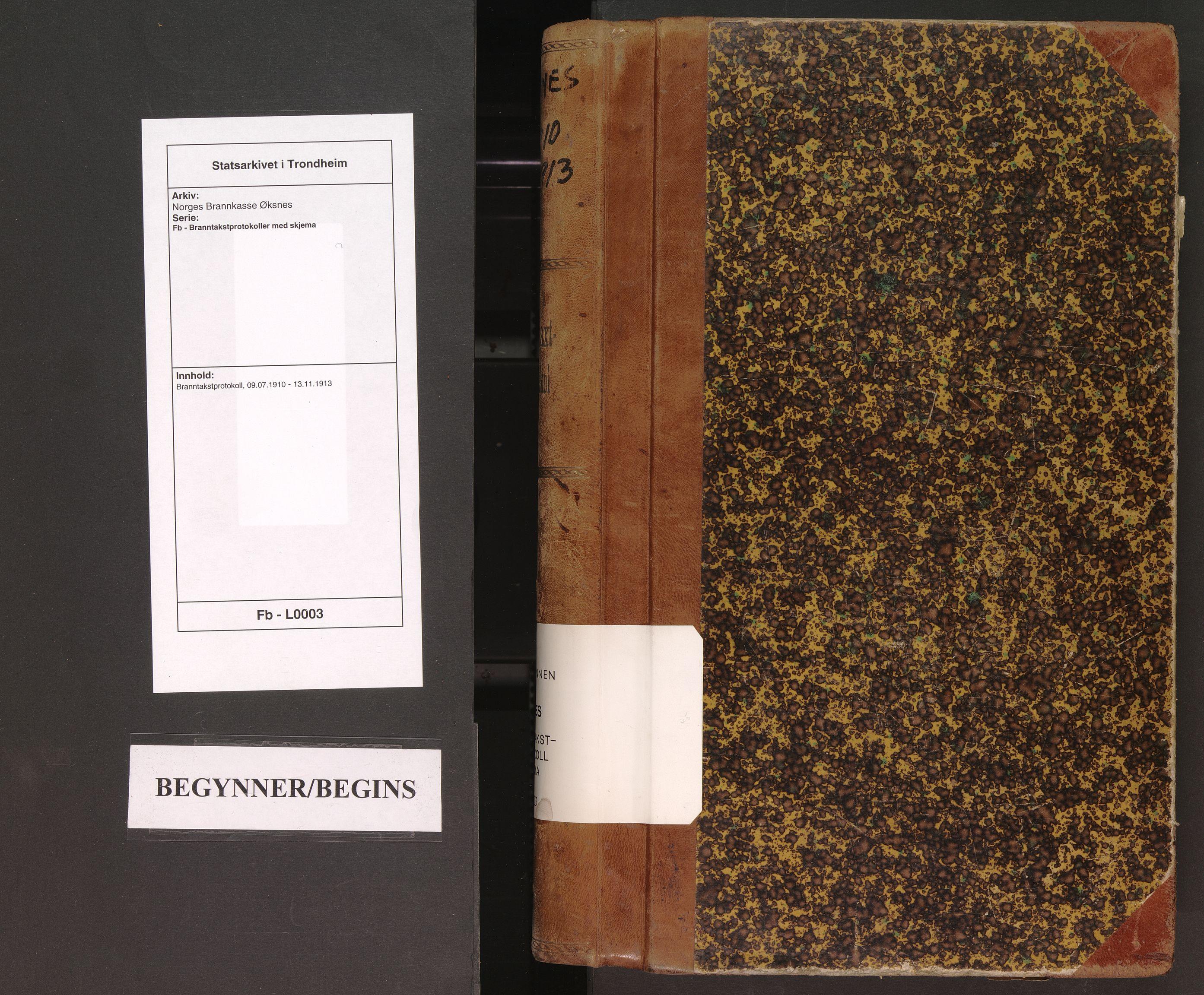 SAT, Norges Brannkasse Øksnes, Fb/L0003: Branntakstprotokoll, 1910-1913