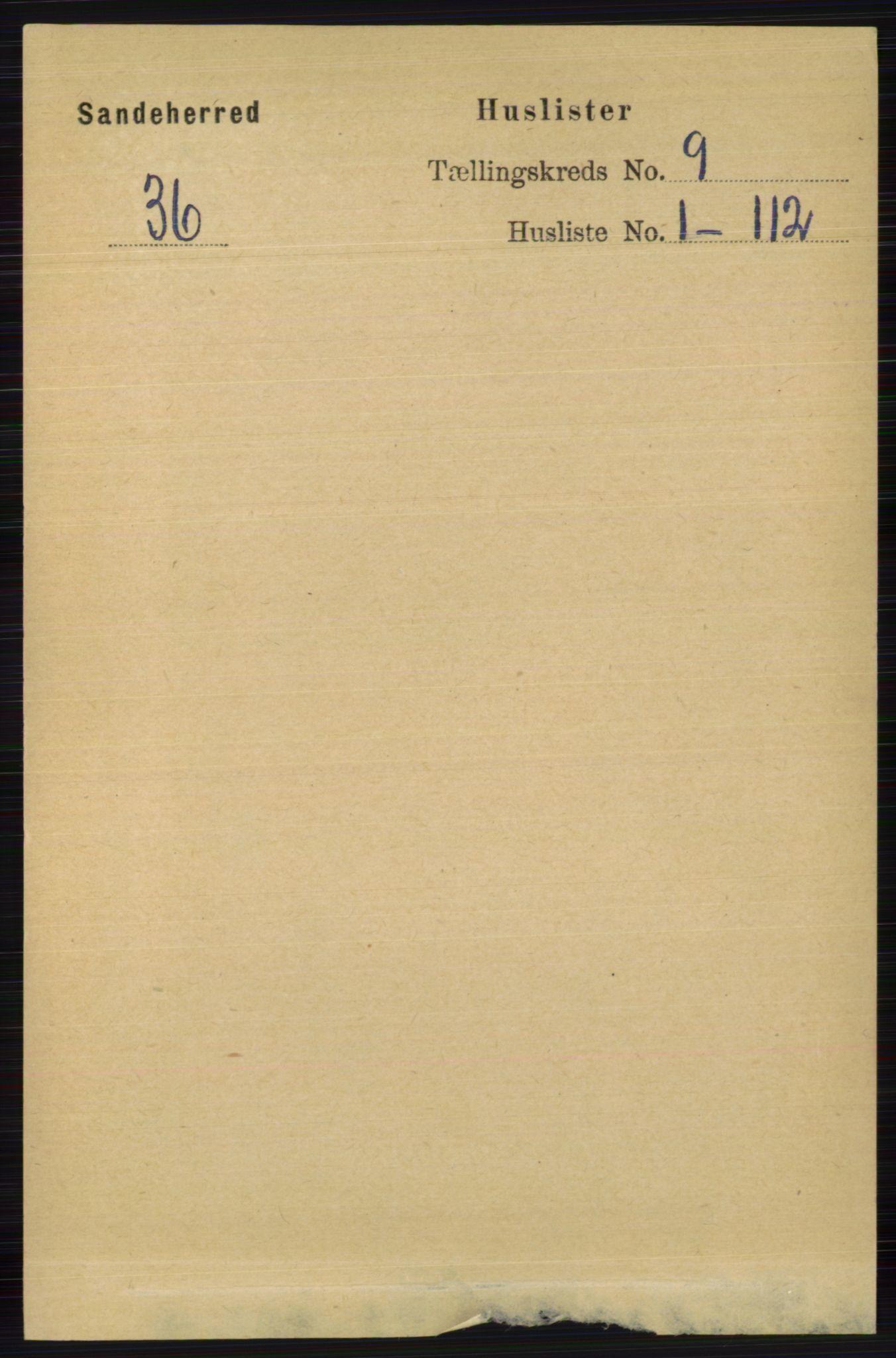 RA, Folketelling 1891 for 0724 Sandeherred herred, 1891, s. 5426