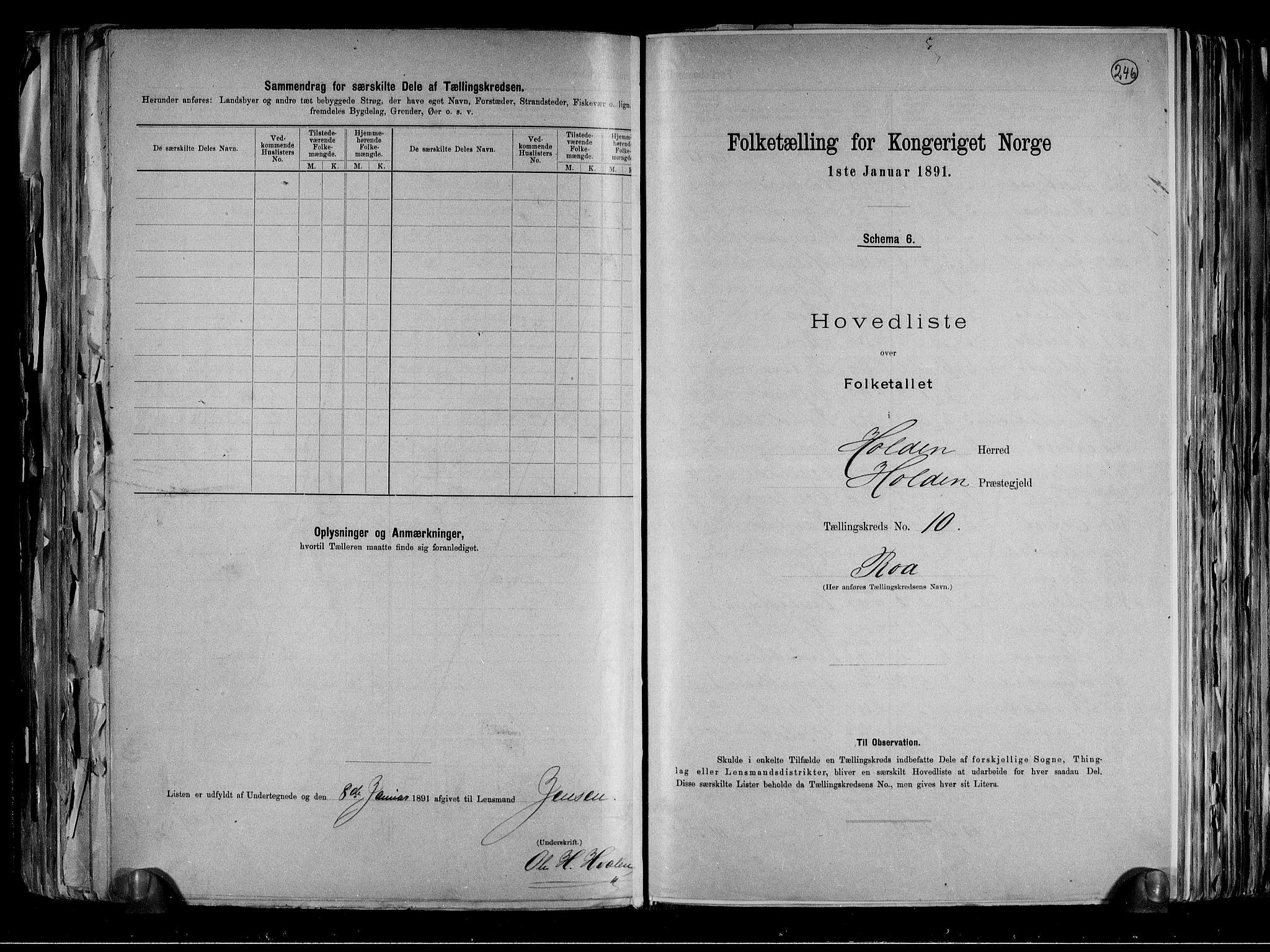 RA, Folketelling 1891 for 0819 Holla herred, 1891, s. 24
