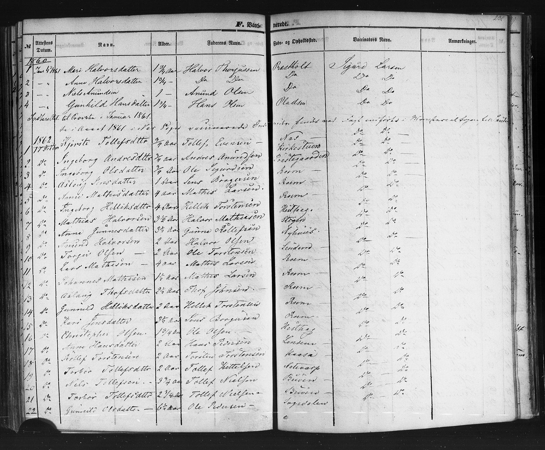 SAKO, Sauherad kirkebøker, F/Fb/L0001: Ministerialbok nr. II 1, 1851-1877, s. 230