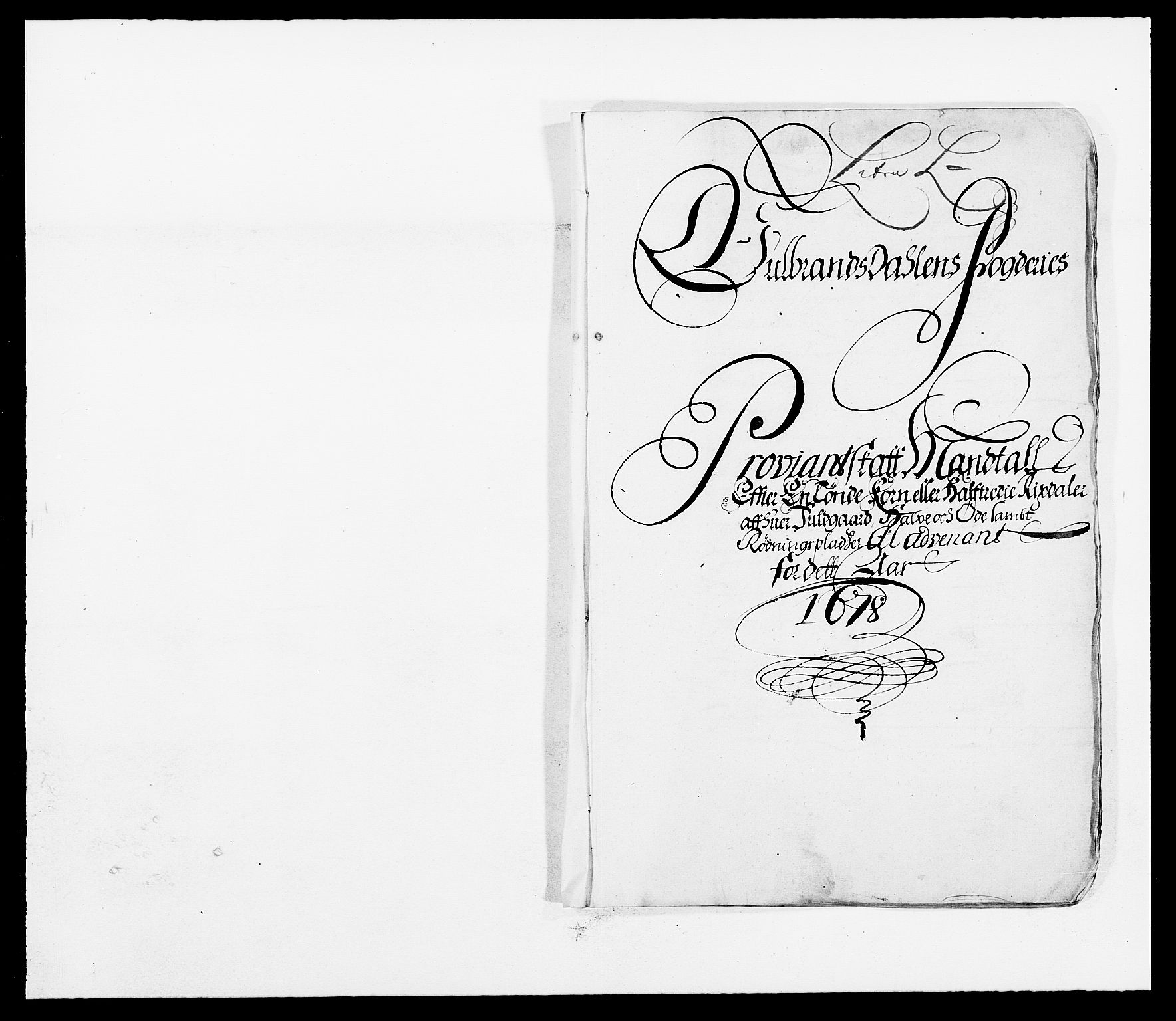 RA, Rentekammeret inntil 1814, Reviderte regnskaper, Fogderegnskap, R17/L1152: Fogderegnskap Gudbrandsdal, 1678-1679, s. 376