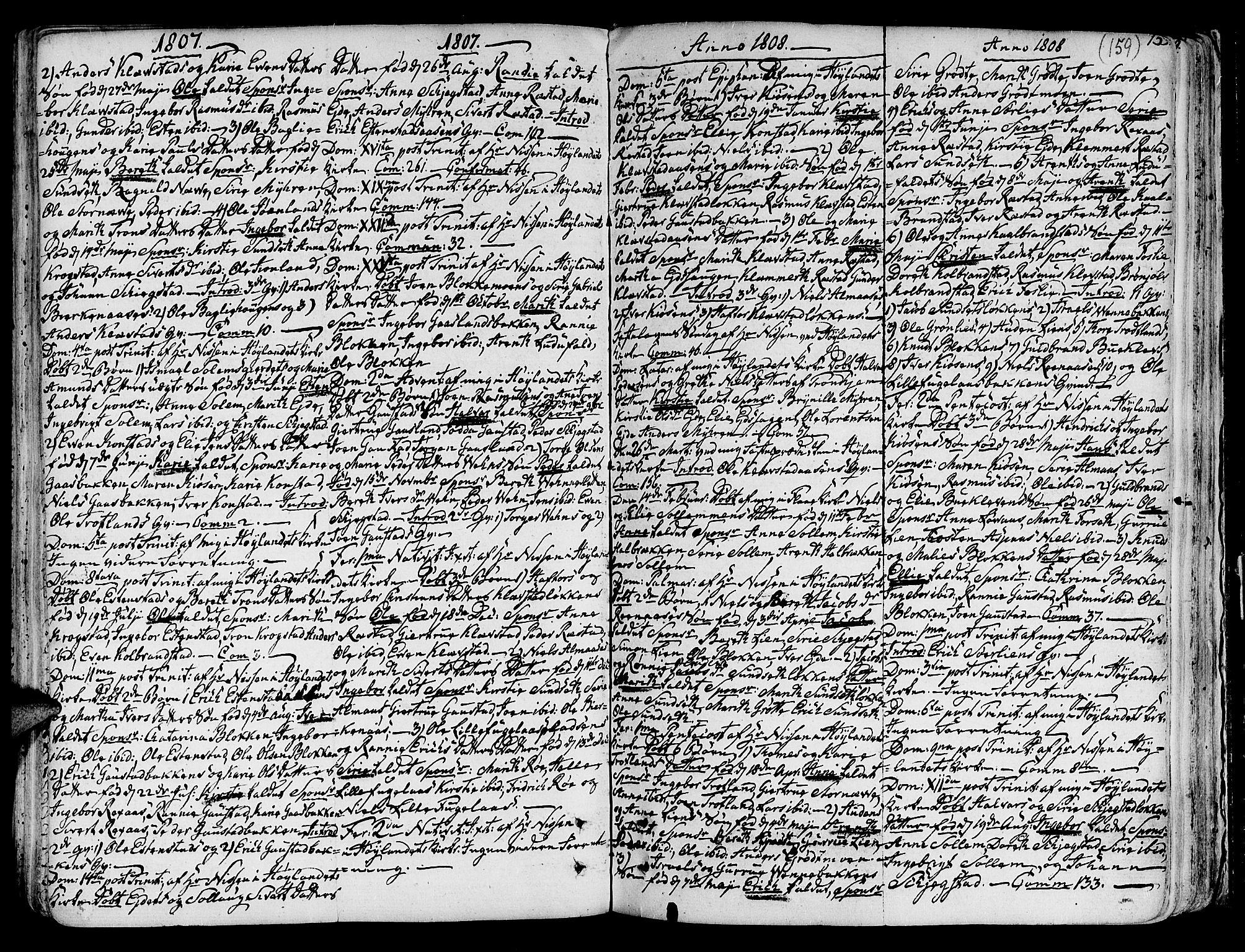 SAT, Ministerialprotokoller, klokkerbøker og fødselsregistre - Sør-Trøndelag, 691/L1064: Ministerialbok nr. 691A02 /4, 1768-1815, s. 159