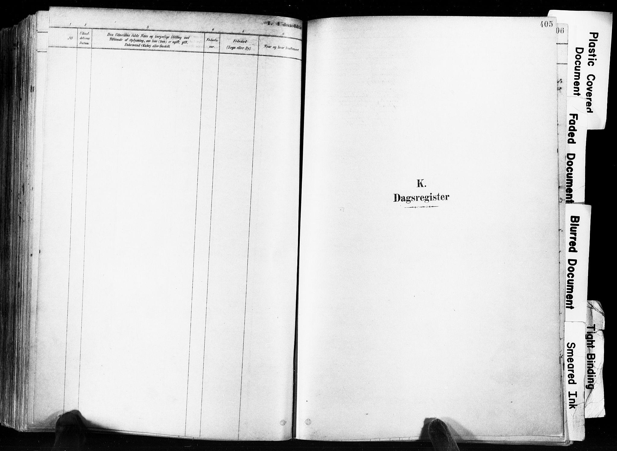 SAKO, Skien kirkebøker, F/Fa/L0009: Ministerialbok nr. 9, 1878-1890, s. 405