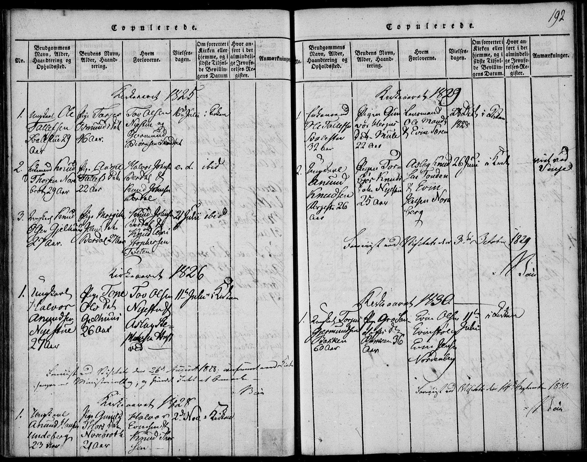SAKO, Vinje kirkebøker, F/Fb/L0001: Ministerialbok nr. II 1, 1814-1843, s. 192
