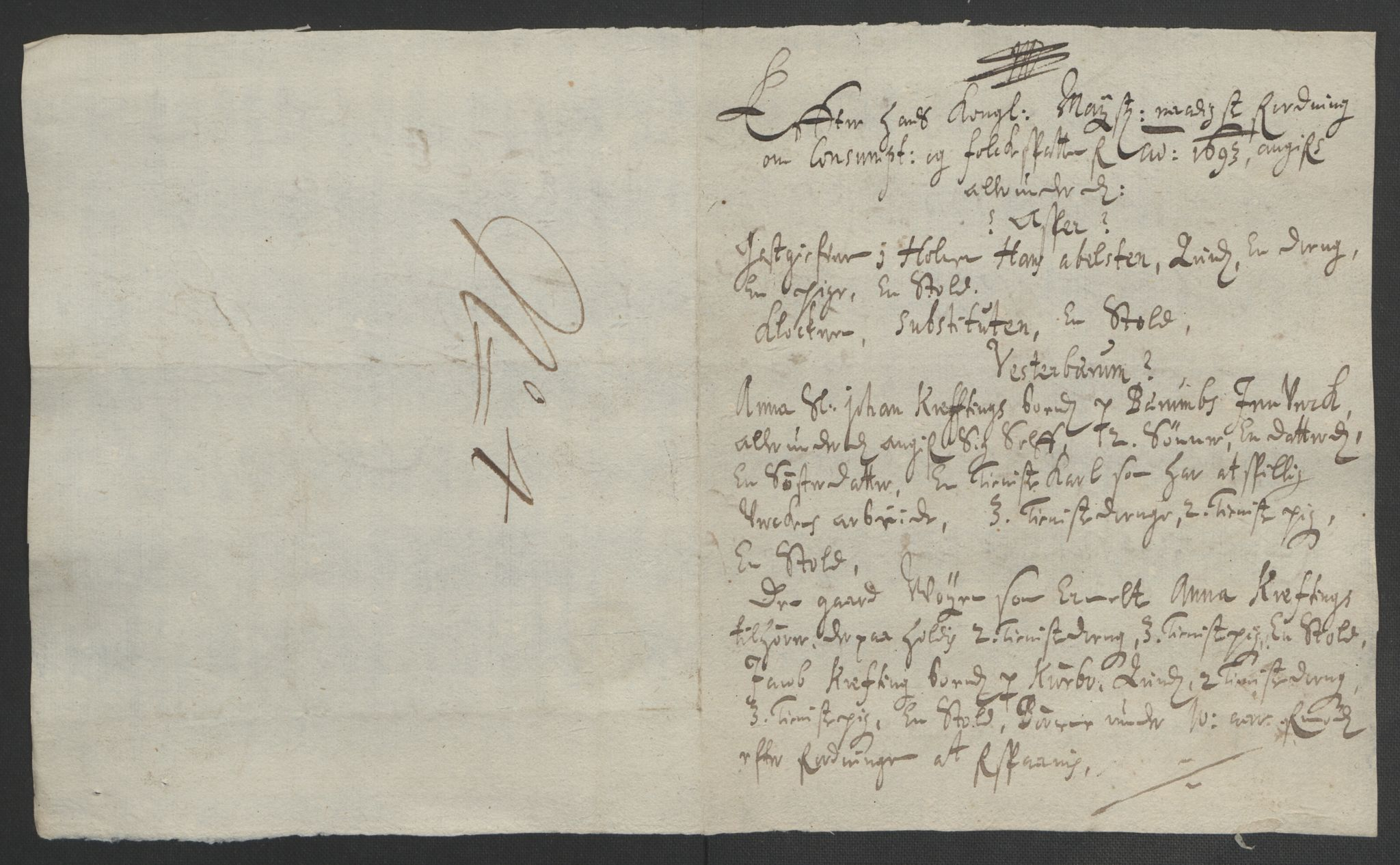 RA, Rentekammeret inntil 1814, Reviderte regnskaper, Fogderegnskap, R08/L0426: Fogderegnskap Aker, 1692-1693, s. 377