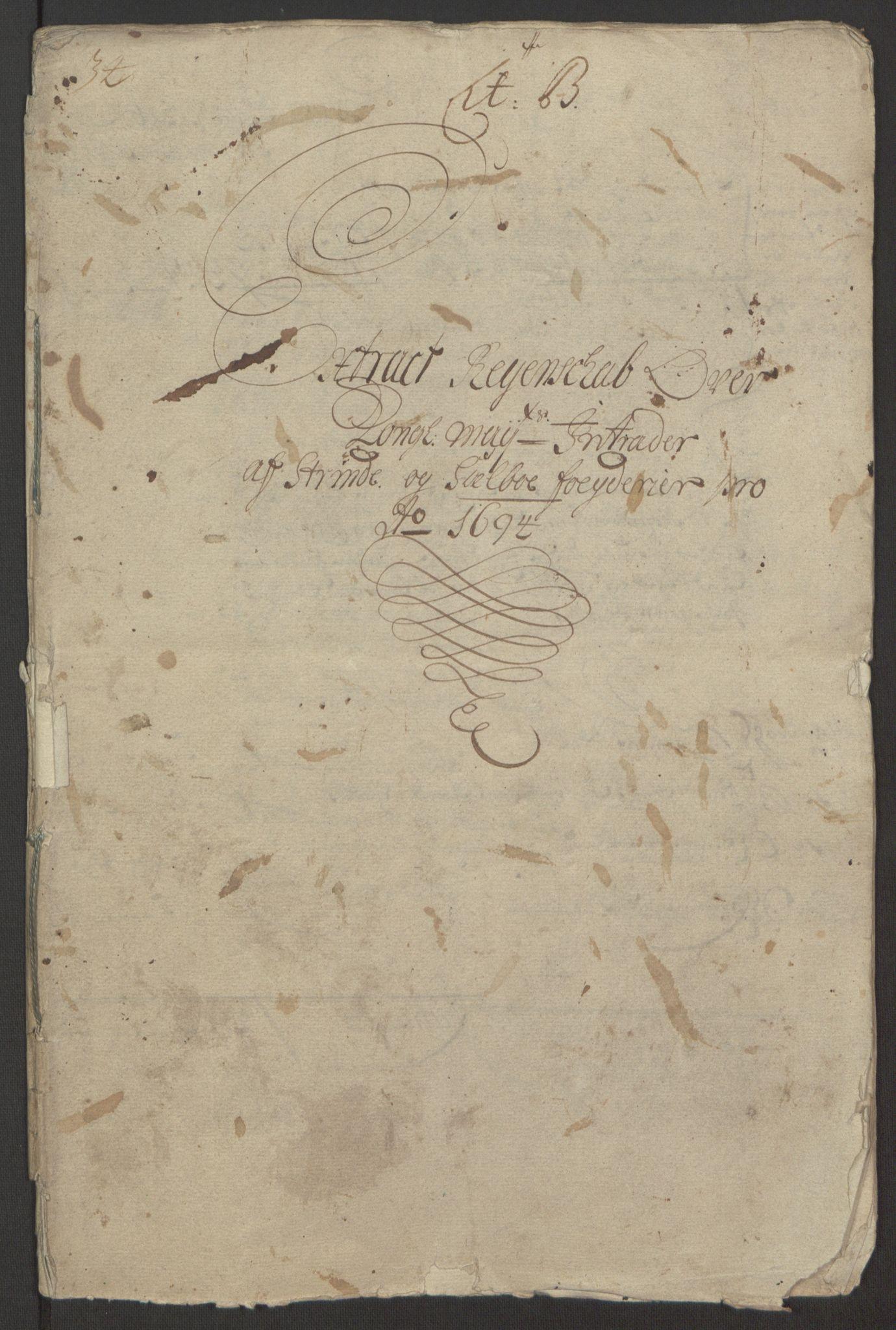 RA, Rentekammeret inntil 1814, Reviderte regnskaper, Fogderegnskap, R61/L4104: Fogderegnskap Strinda og Selbu, 1693-1694, s. 187
