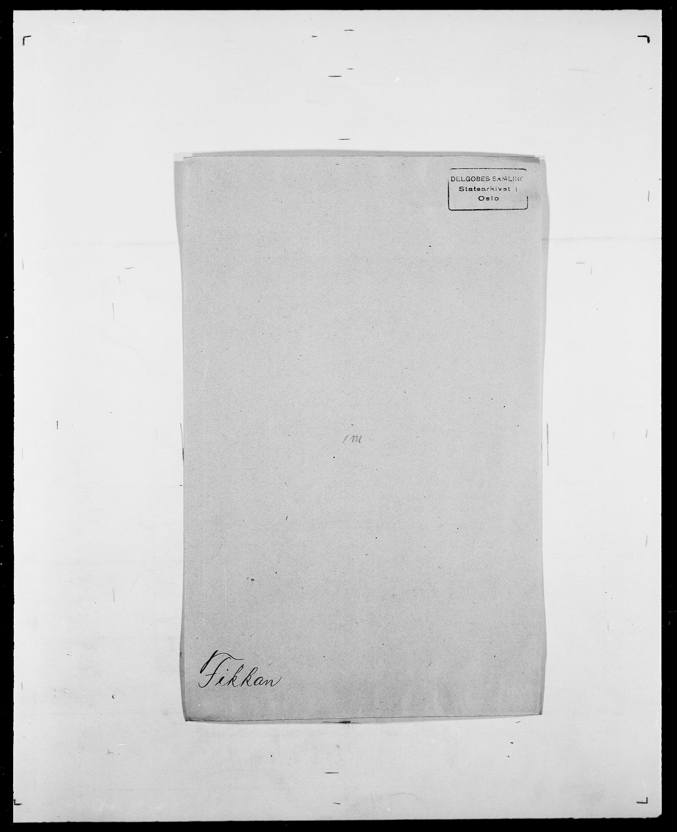 SAO, Delgobe, Charles Antoine - samling, D/Da/L0011: Fahlander - Flood, Flod, s. 432