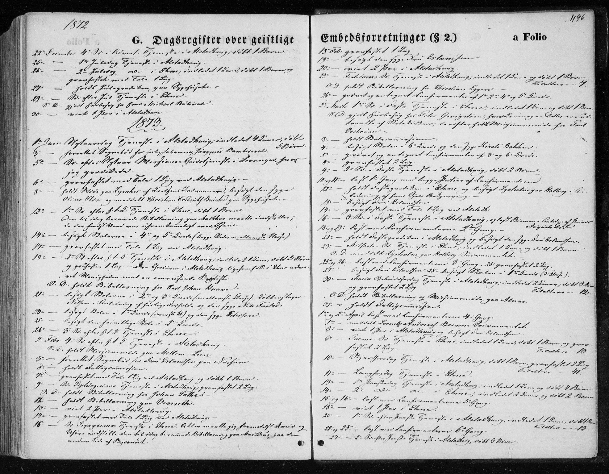 SAT, Ministerialprotokoller, klokkerbøker og fødselsregistre - Nord-Trøndelag, 717/L0157: Ministerialbok nr. 717A08 /1, 1863-1877, s. 496