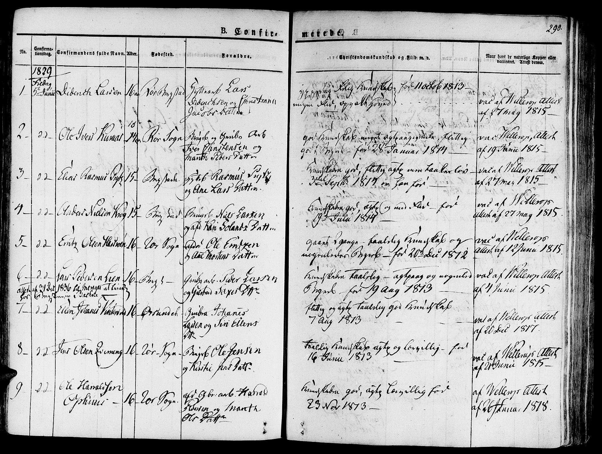 SAT, Ministerialprotokoller, klokkerbøker og fødselsregistre - Sør-Trøndelag, 681/L0930: Ministerialbok nr. 681A08, 1829-1844, s. 290