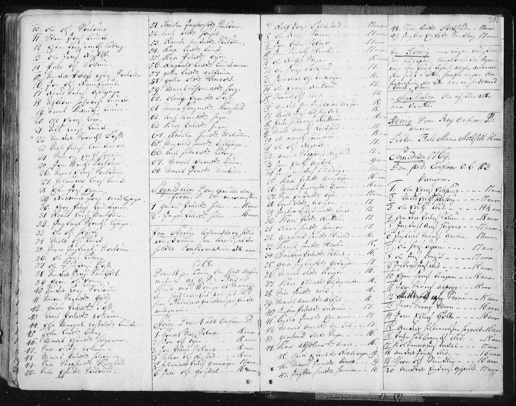 SAT, Ministerialprotokoller, klokkerbøker og fødselsregistre - Sør-Trøndelag, 687/L0991: Ministerialbok nr. 687A02, 1747-1790, s. 282