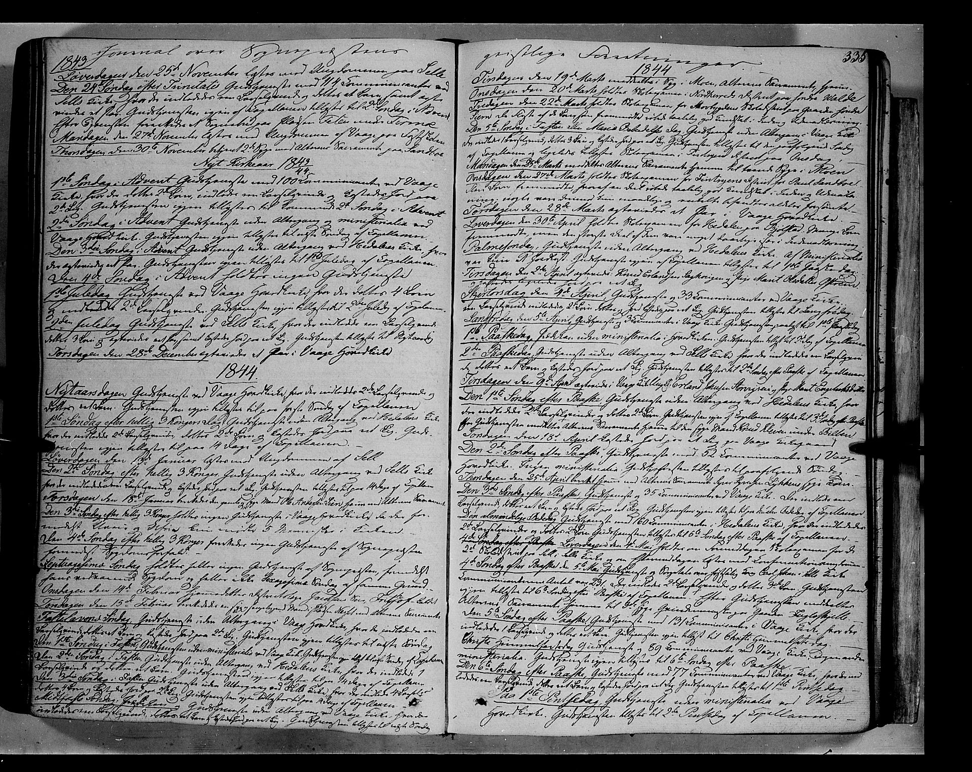 SAH, Vågå prestekontor, Ministerialbok nr. 5 /1, 1842-1856, s. 335