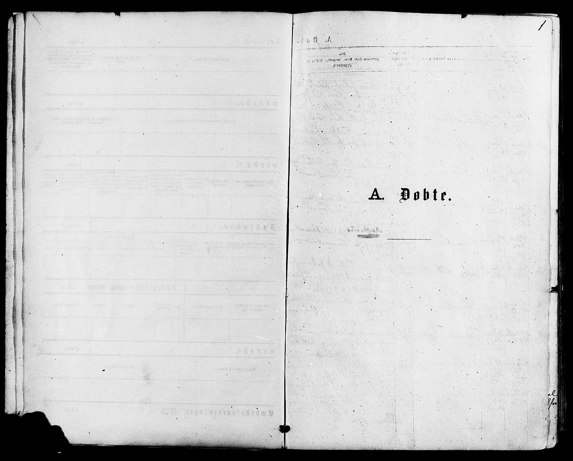 SAH, Biri prestekontor, Ministerialbok nr. 6, 1877-1886, s. 1