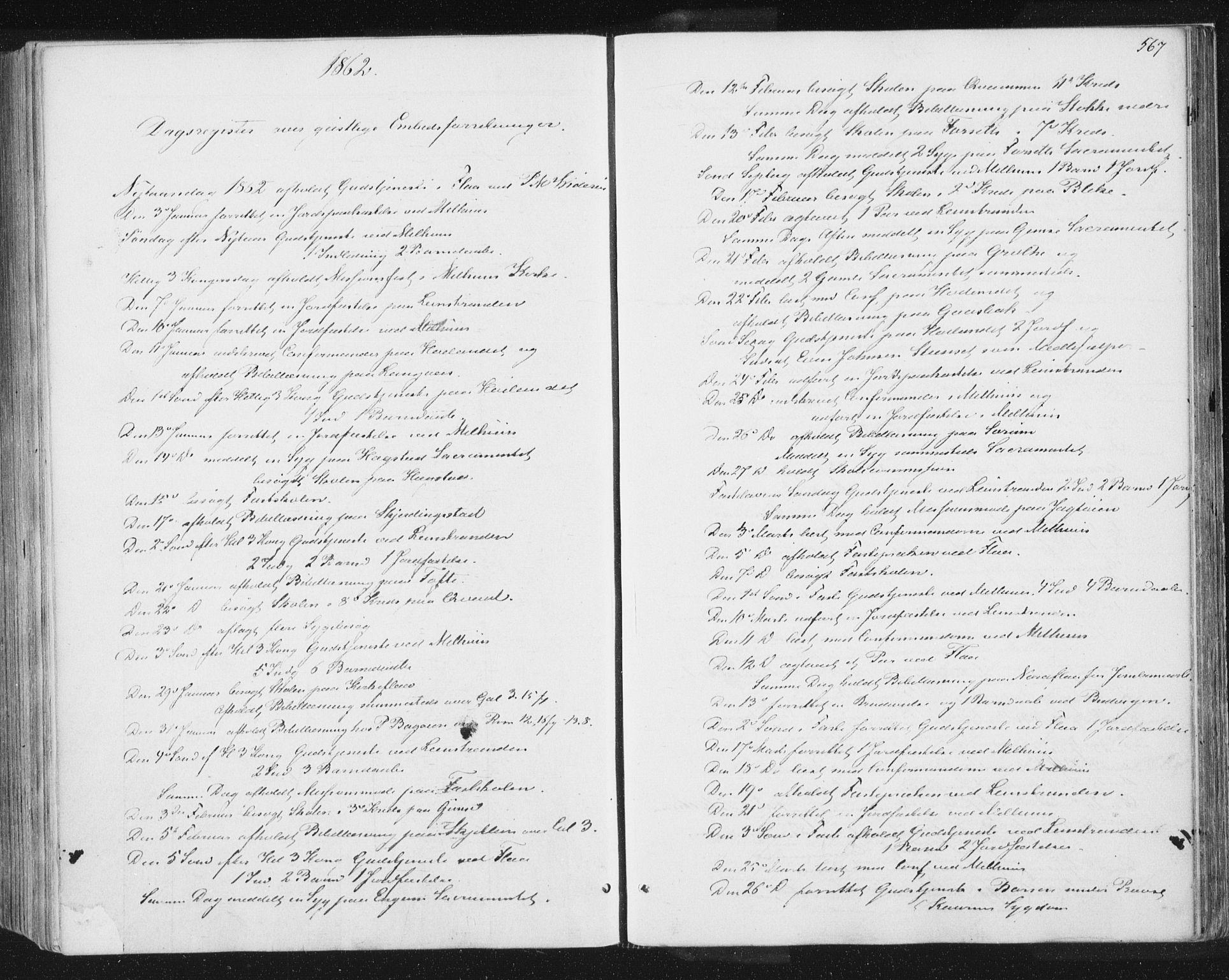 SAT, Ministerialprotokoller, klokkerbøker og fødselsregistre - Sør-Trøndelag, 691/L1077: Ministerialbok nr. 691A09, 1862-1873, s. 567