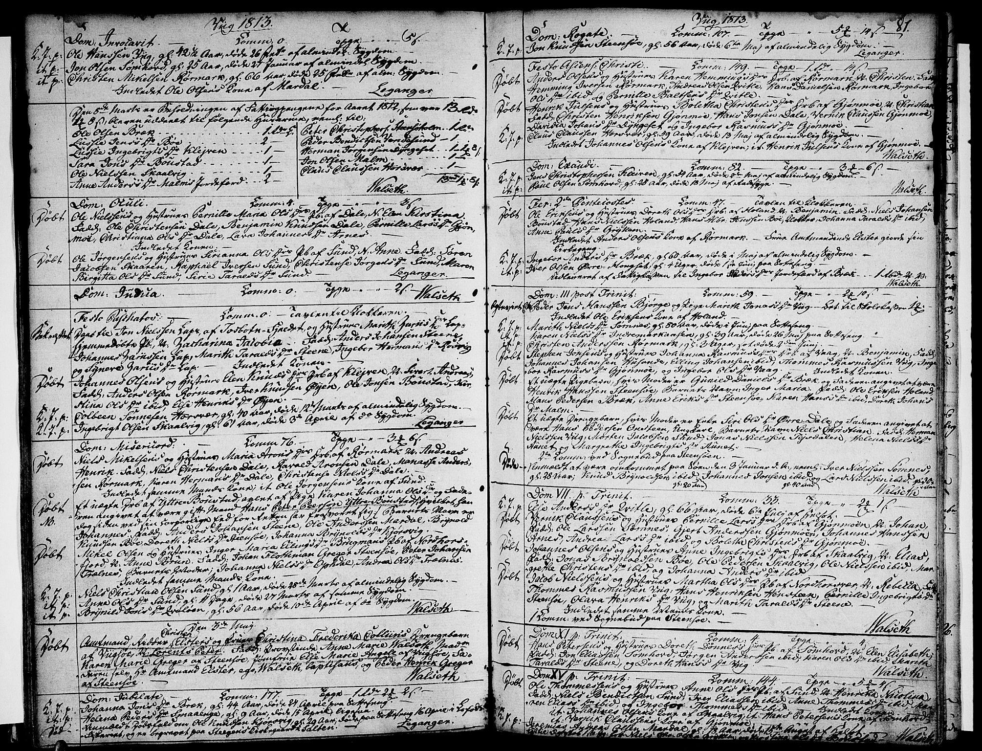 SAT, Ministerialprotokoller, klokkerbøker og fødselsregistre - Nordland, 812/L0174: Ministerialbok nr. 812A03, 1801-1819, s. 81
