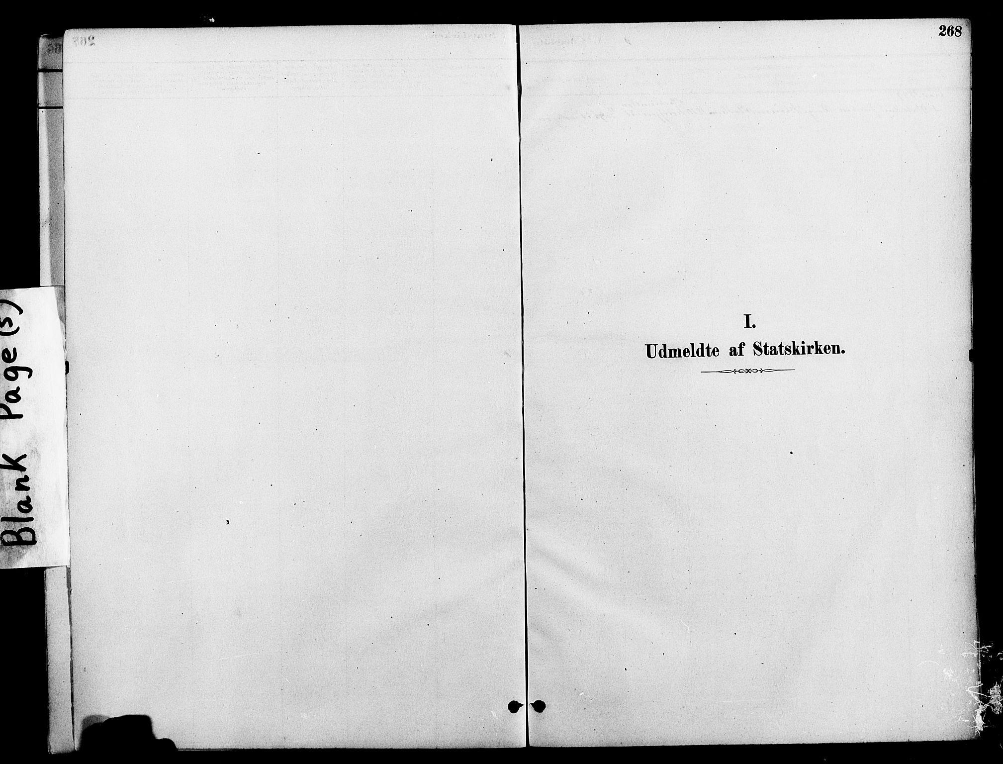 SAT, Ministerialprotokoller, klokkerbøker og fødselsregistre - Nord-Trøndelag, 712/L0100: Ministerialbok nr. 712A01, 1880-1900, s. 268