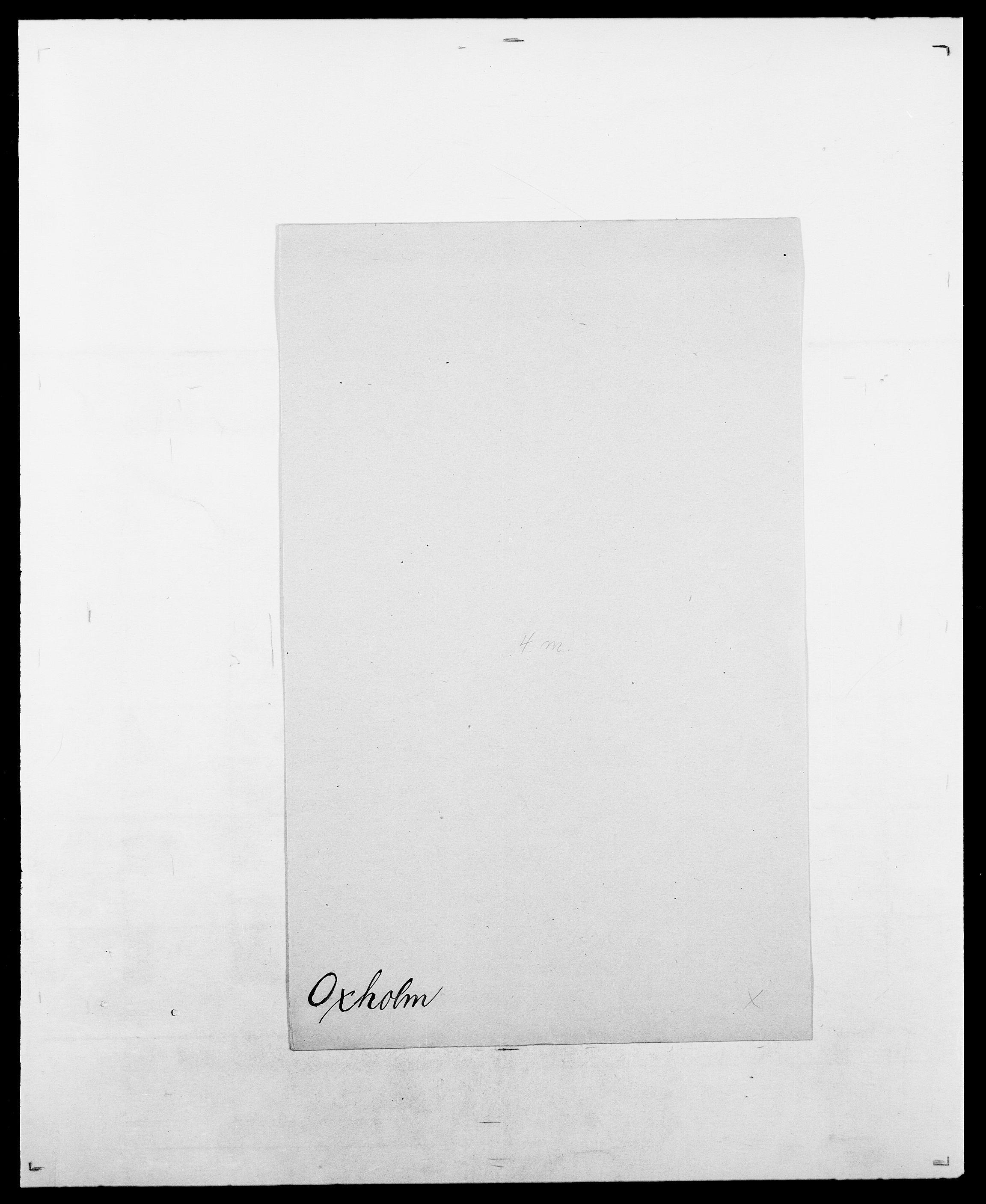 SAO, Delgobe, Charles Antoine - samling, D/Da/L0029: Obel - Oxholm, s. 516