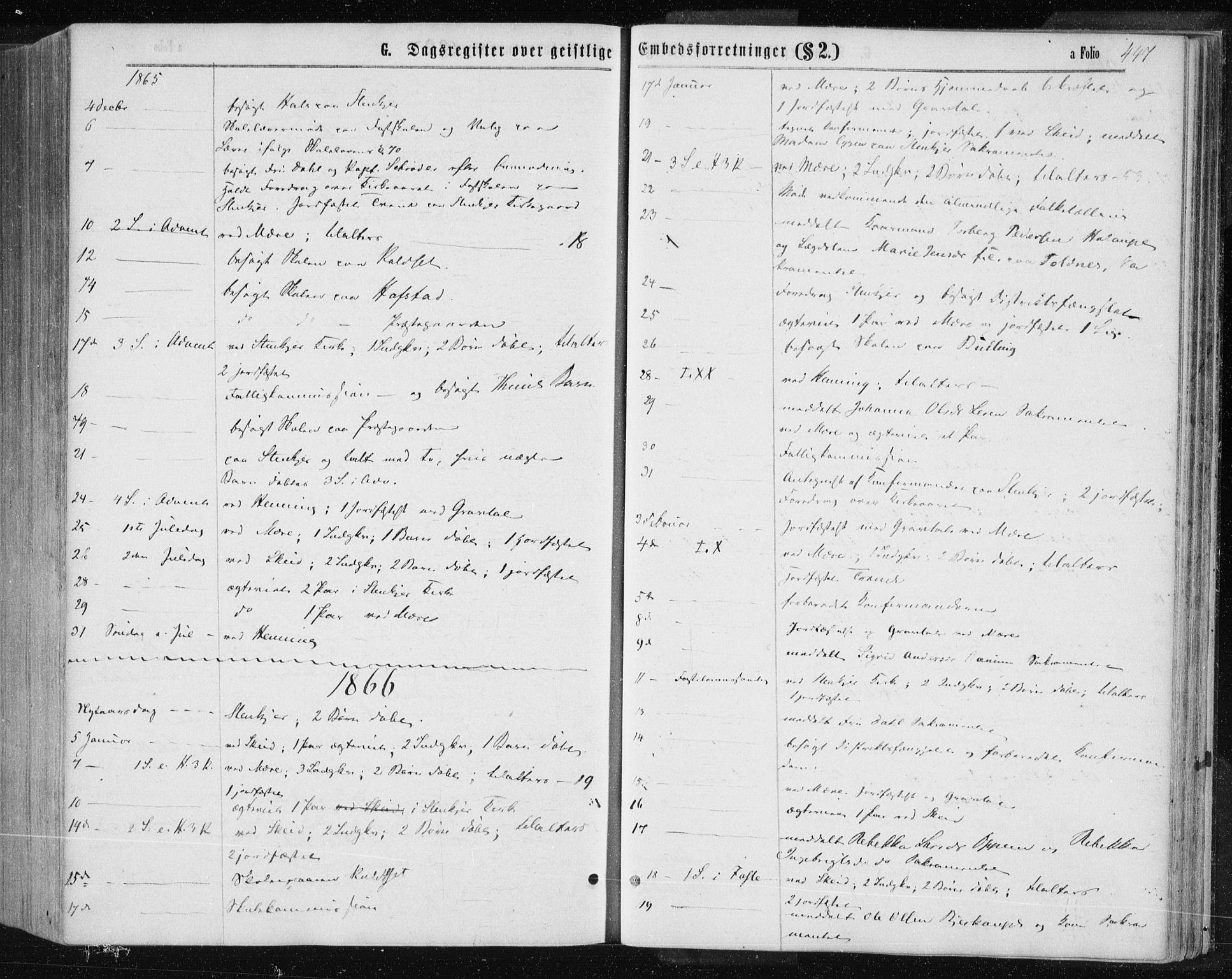 SAT, Ministerialprotokoller, klokkerbøker og fødselsregistre - Nord-Trøndelag, 735/L0345: Ministerialbok nr. 735A08 /1, 1863-1872, s. 447